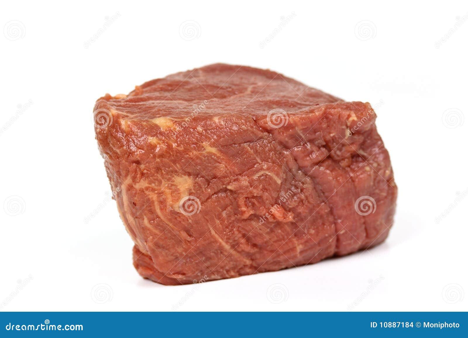 Raw mignon steak,isolated on white