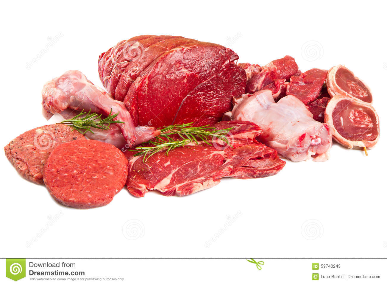 Raw mix meat