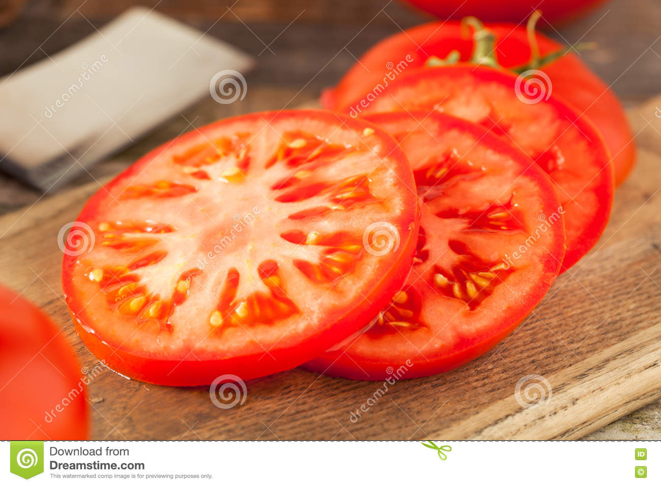 Raw Organic Red Beefsteak Tomatoes