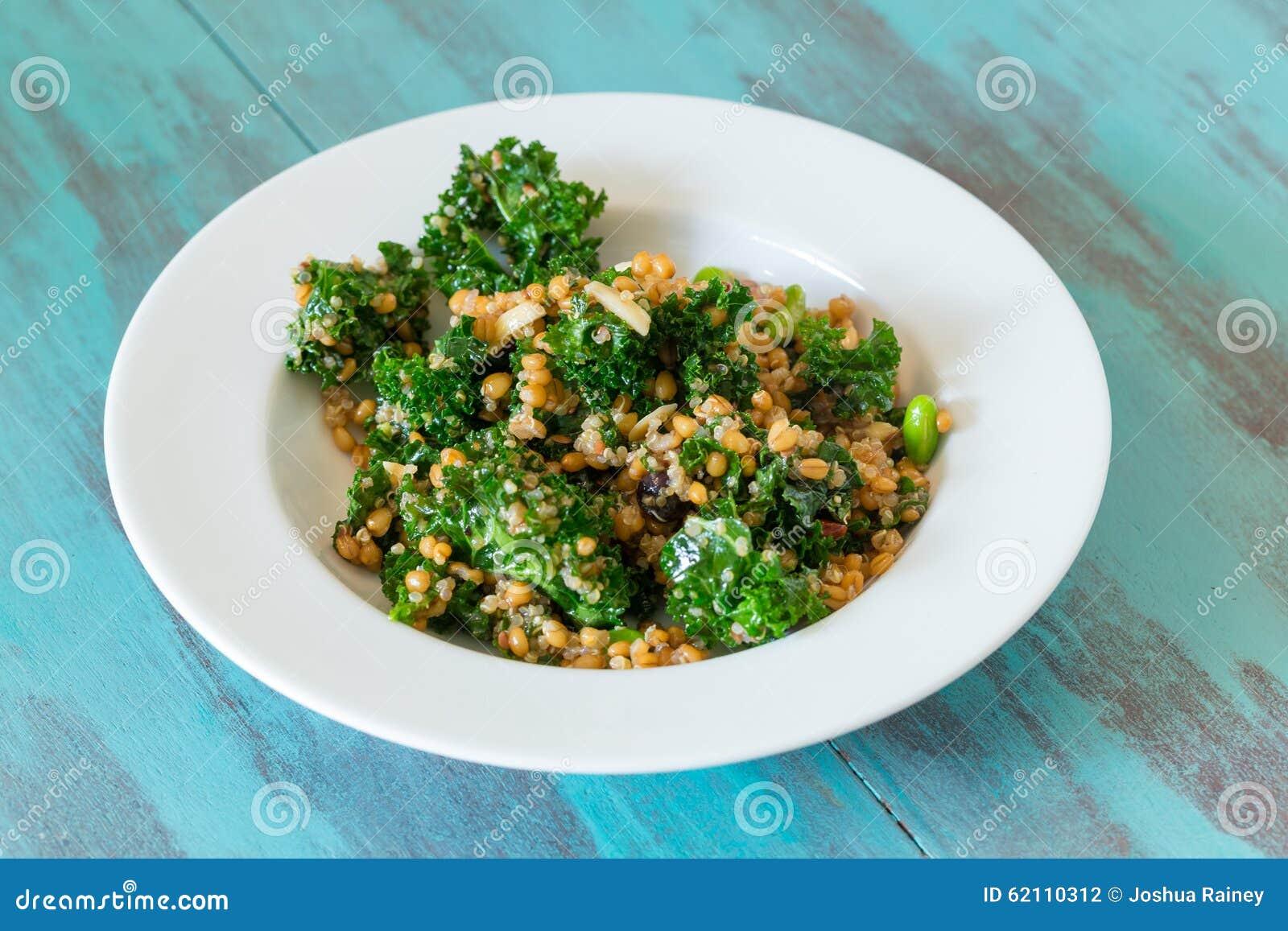 Raw Paleo Kale and Quinoa Superfood Salad