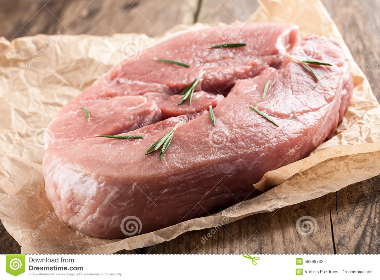 Raw pork meat Meat