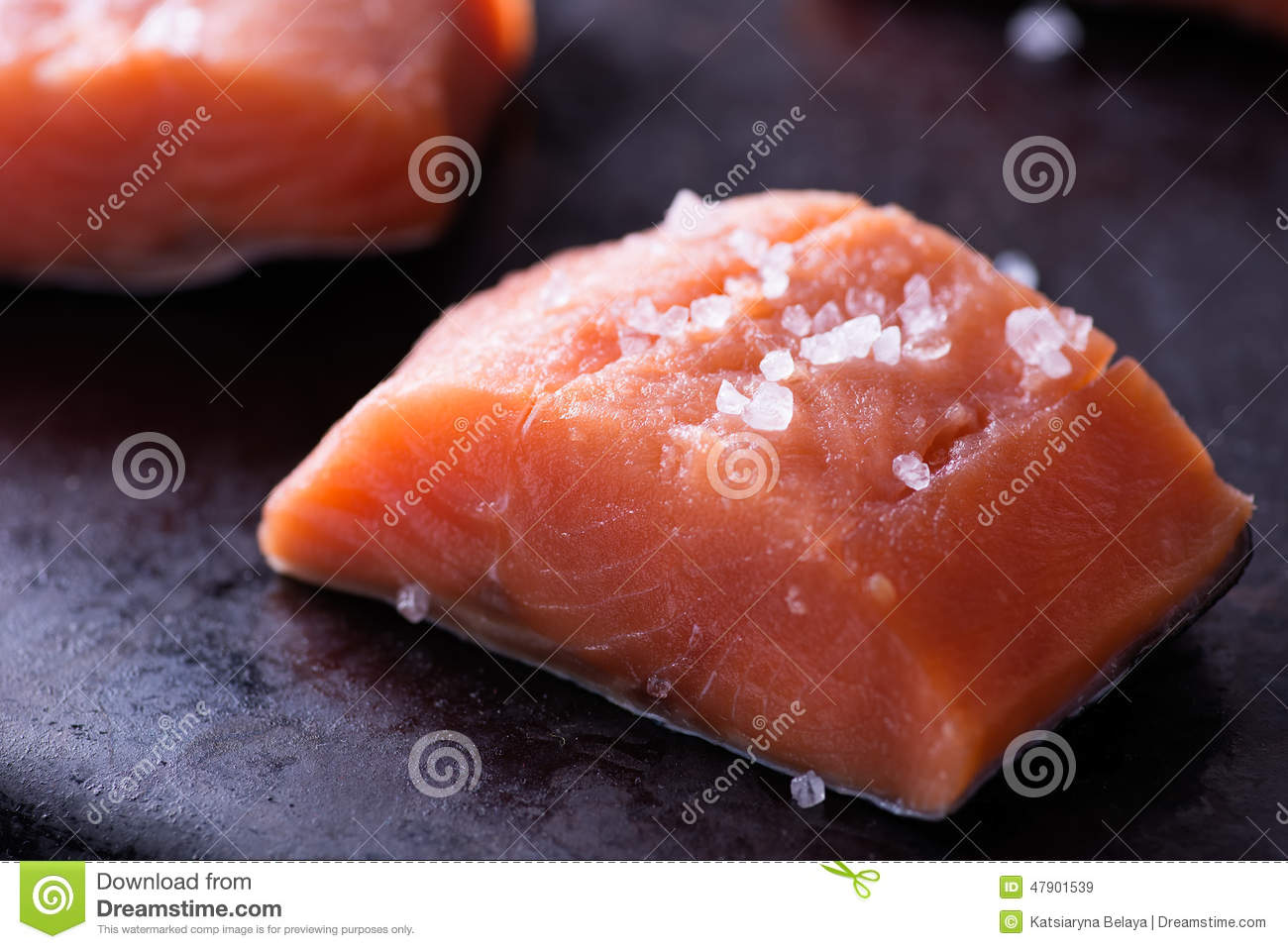 Raw red fish fillet stock photo image 47901539 for Red fish fillet