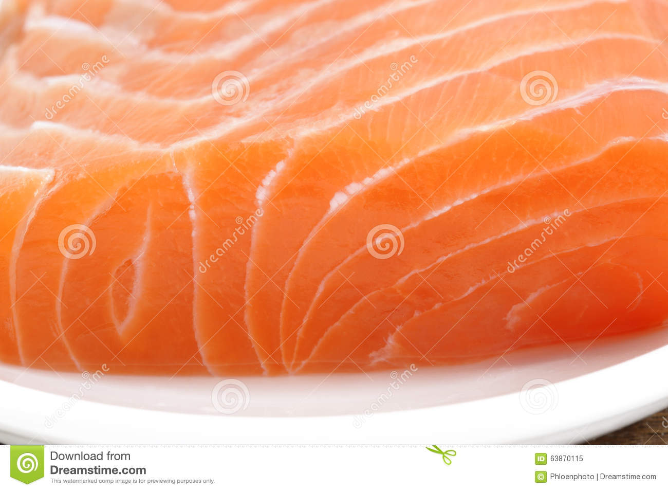 Raw salmon meat stock image image of fish slice for Is fish meat