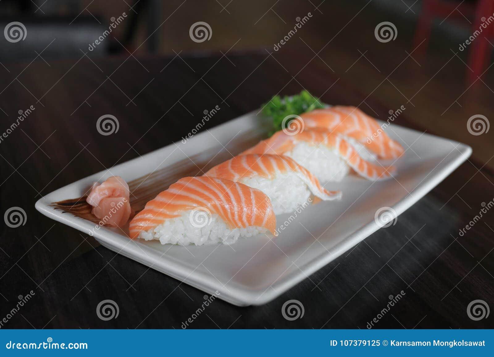 Raw salmon nigiri sushi dish japanese food recipe stock image download raw salmon nigiri sushi dish japanese food recipe stock image image of plate forumfinder Images