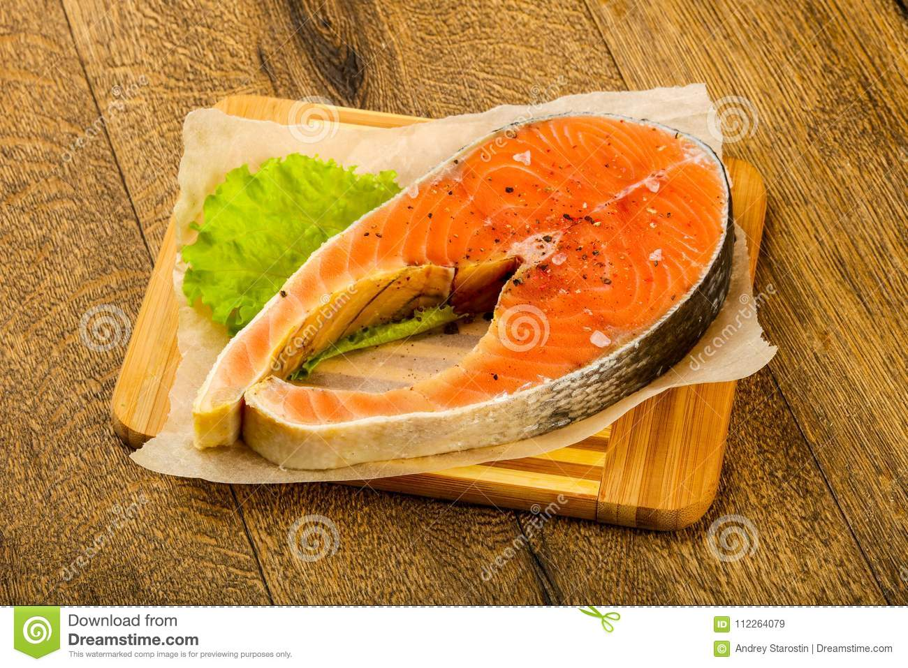 Raw Salmon Stock Image Image Of Cooking Isolated Ingredient