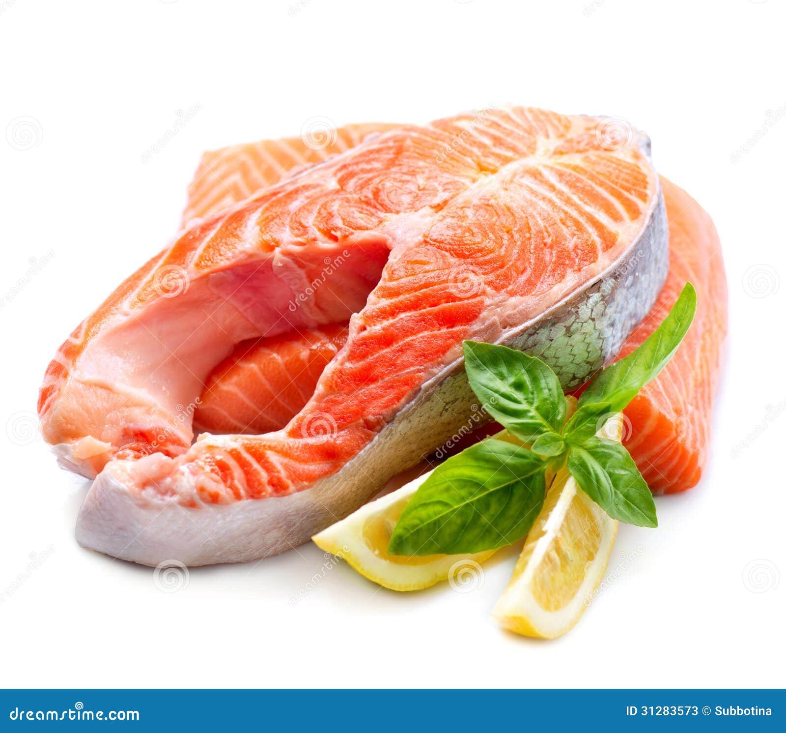 raw salmon steak stock photos image 31283573 Cooked Fish Clip Art Seafood Platter Clip Art