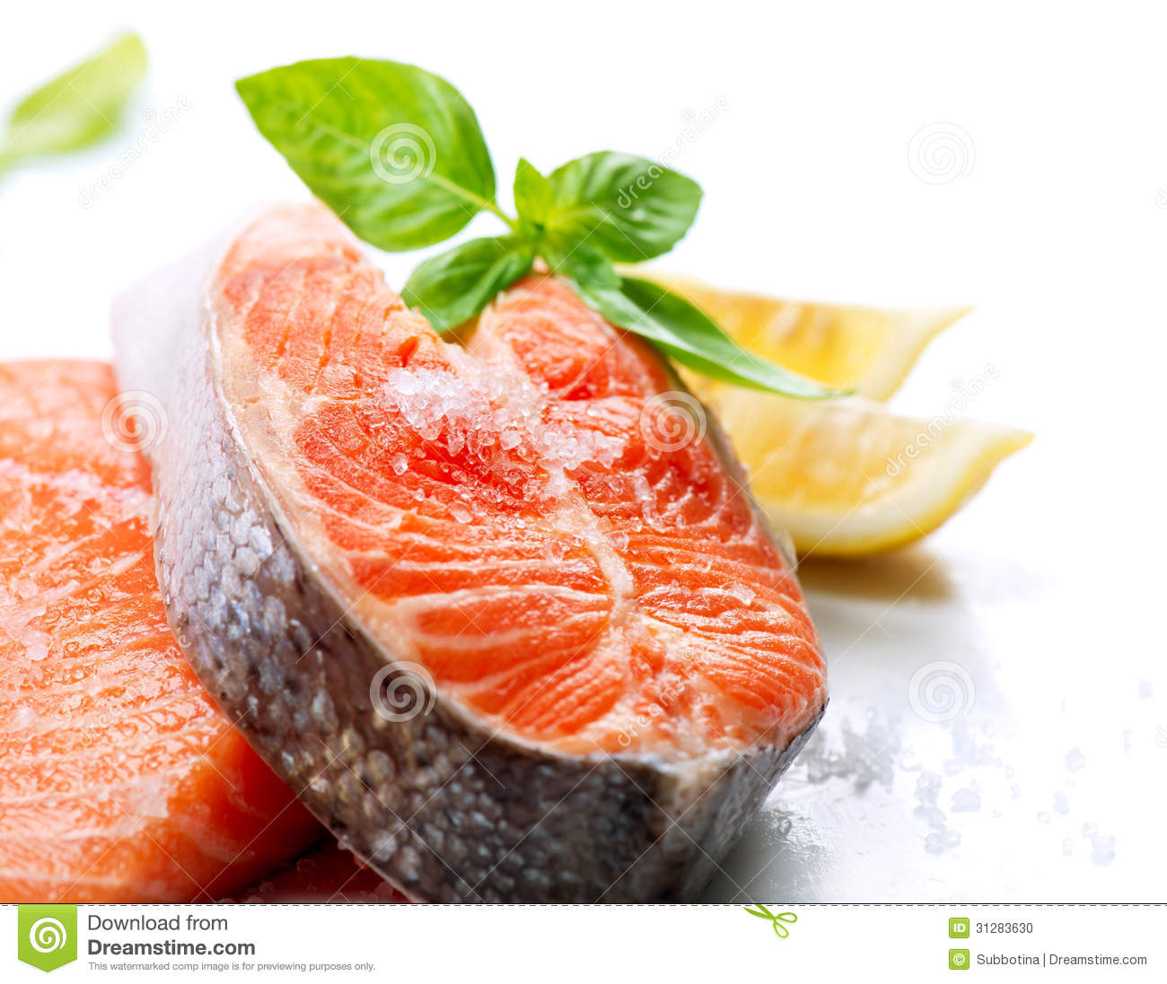 Raw salmon steak stock photo image of barbeque nutrition for Salmon fish nutrition