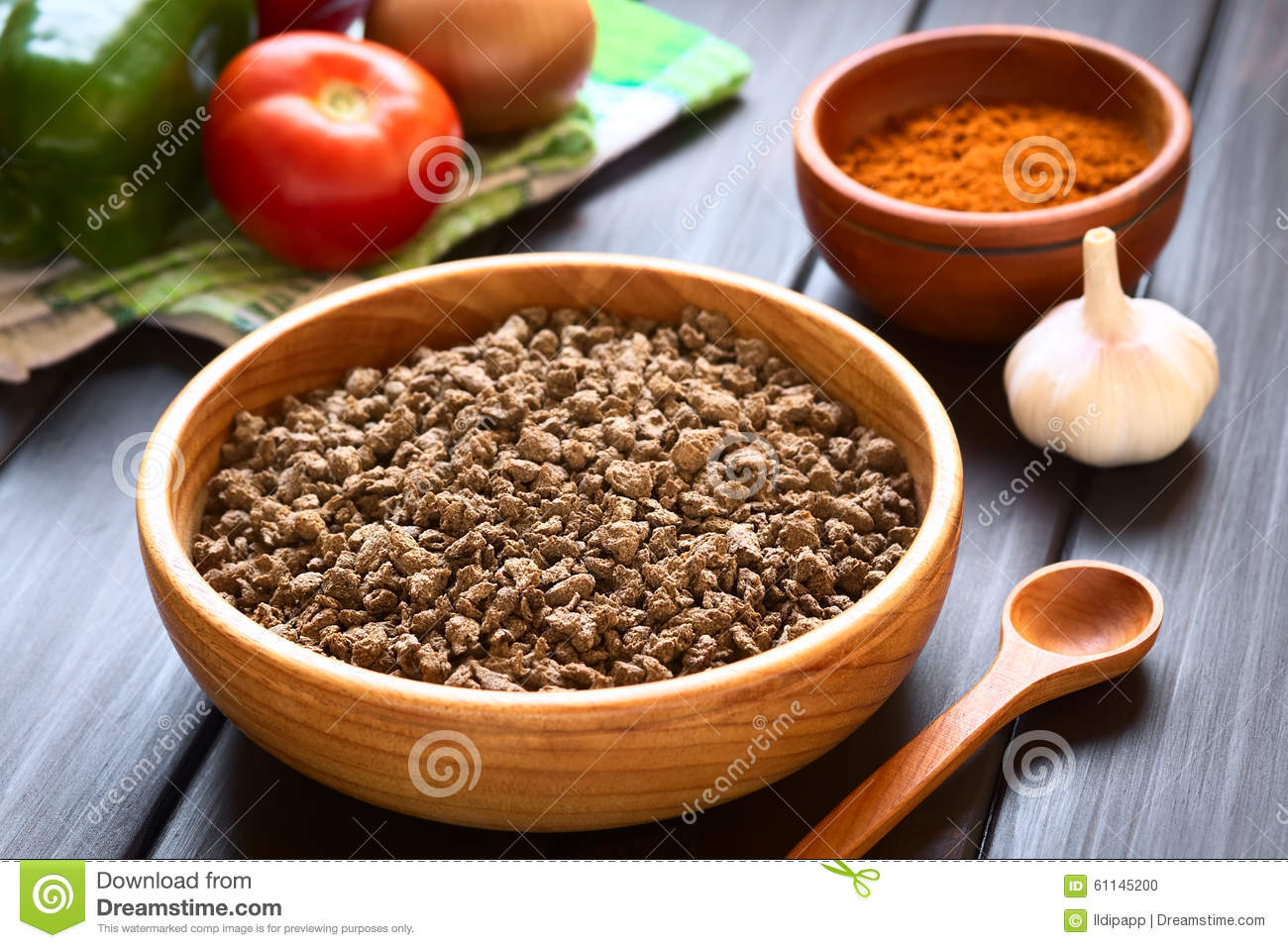 Download Raw Soy Meat stock photo. Image of product, meat, natural - 61145200