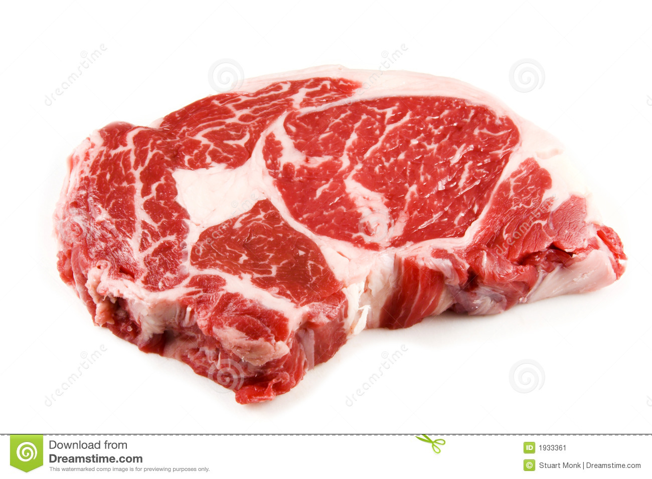 Raw steak stock image. Image of protein, grocery ...