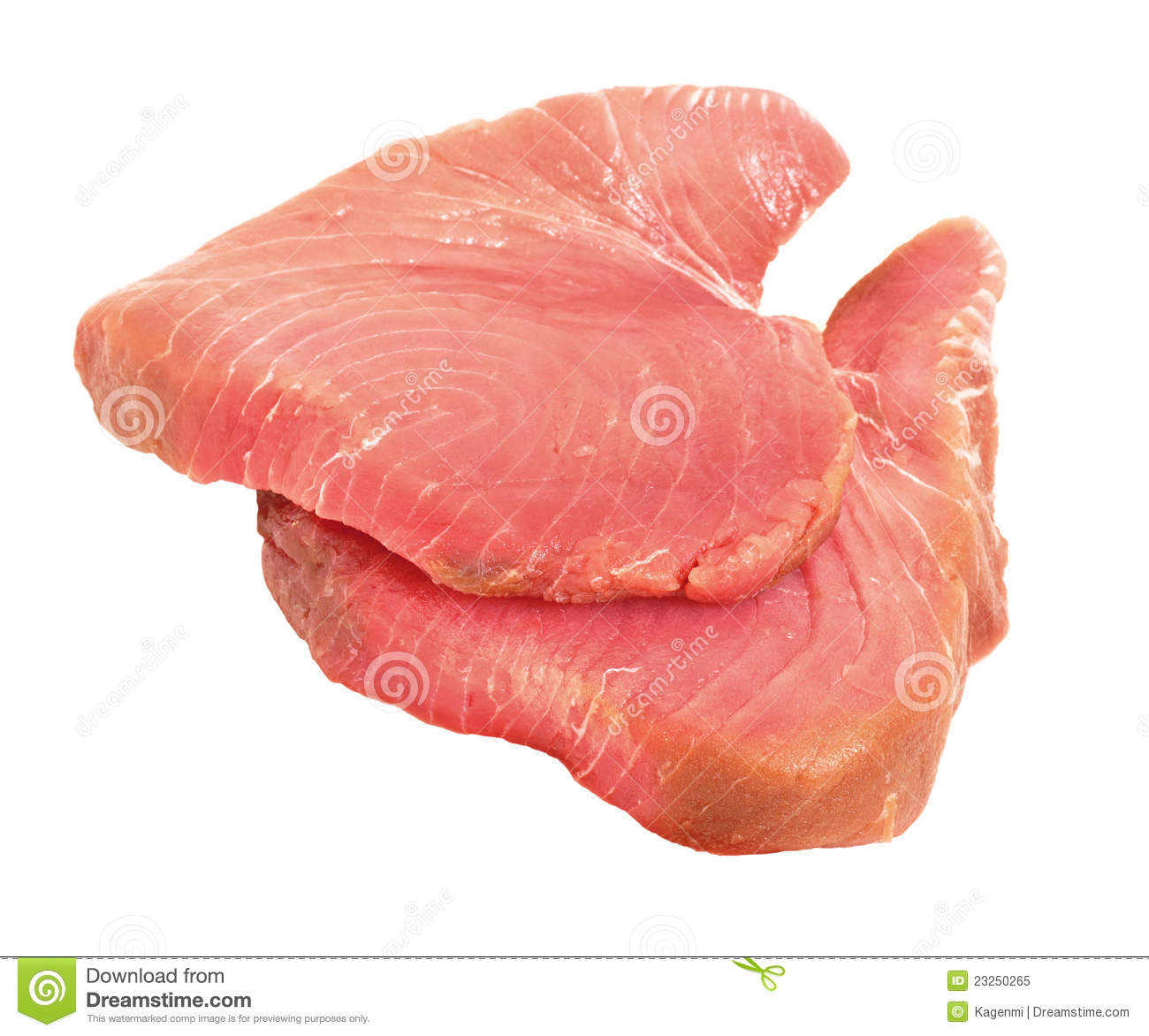 Raw tuna fish steaks stock image image of edible for Is fish meat
