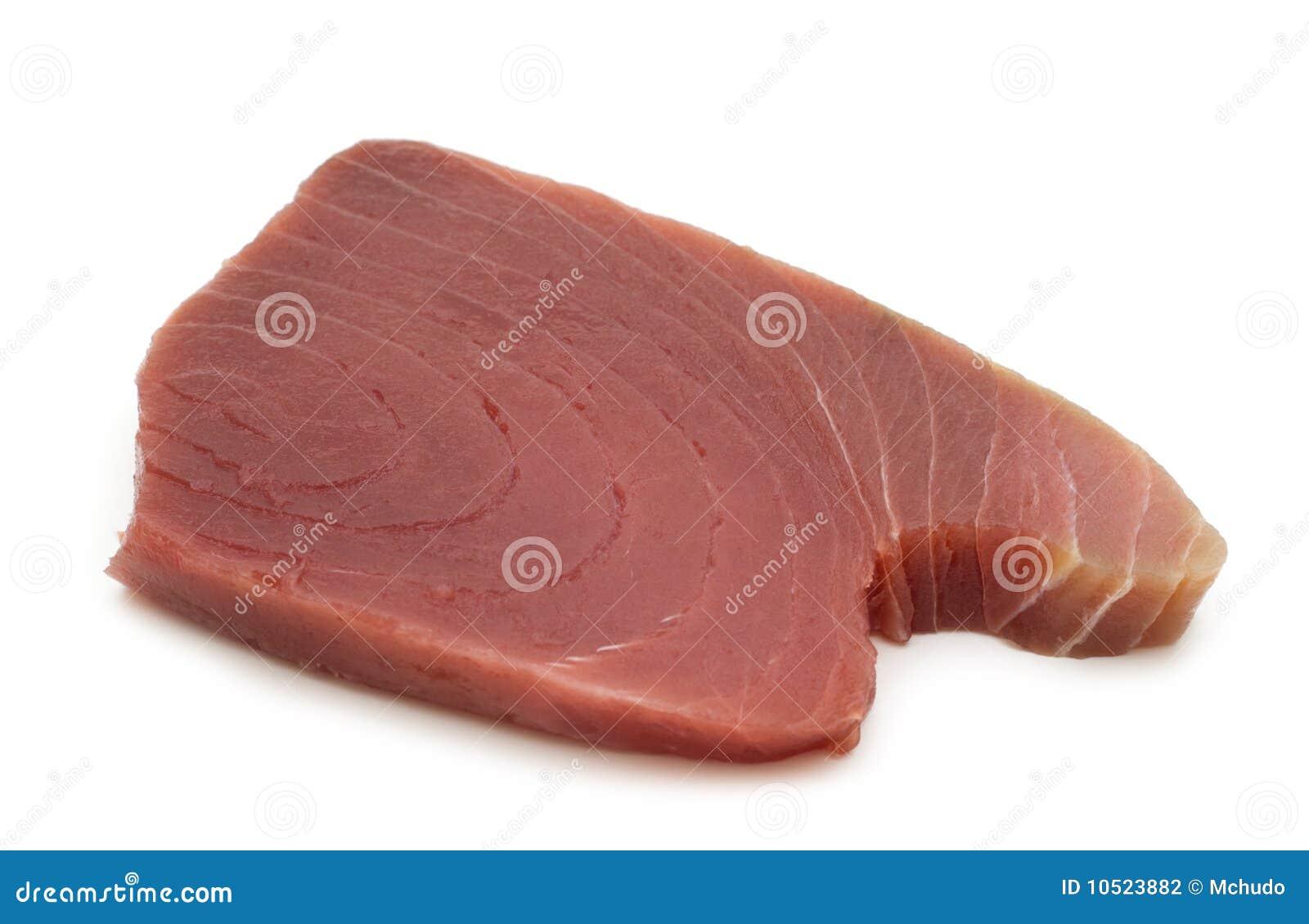 Raw tuna steaks