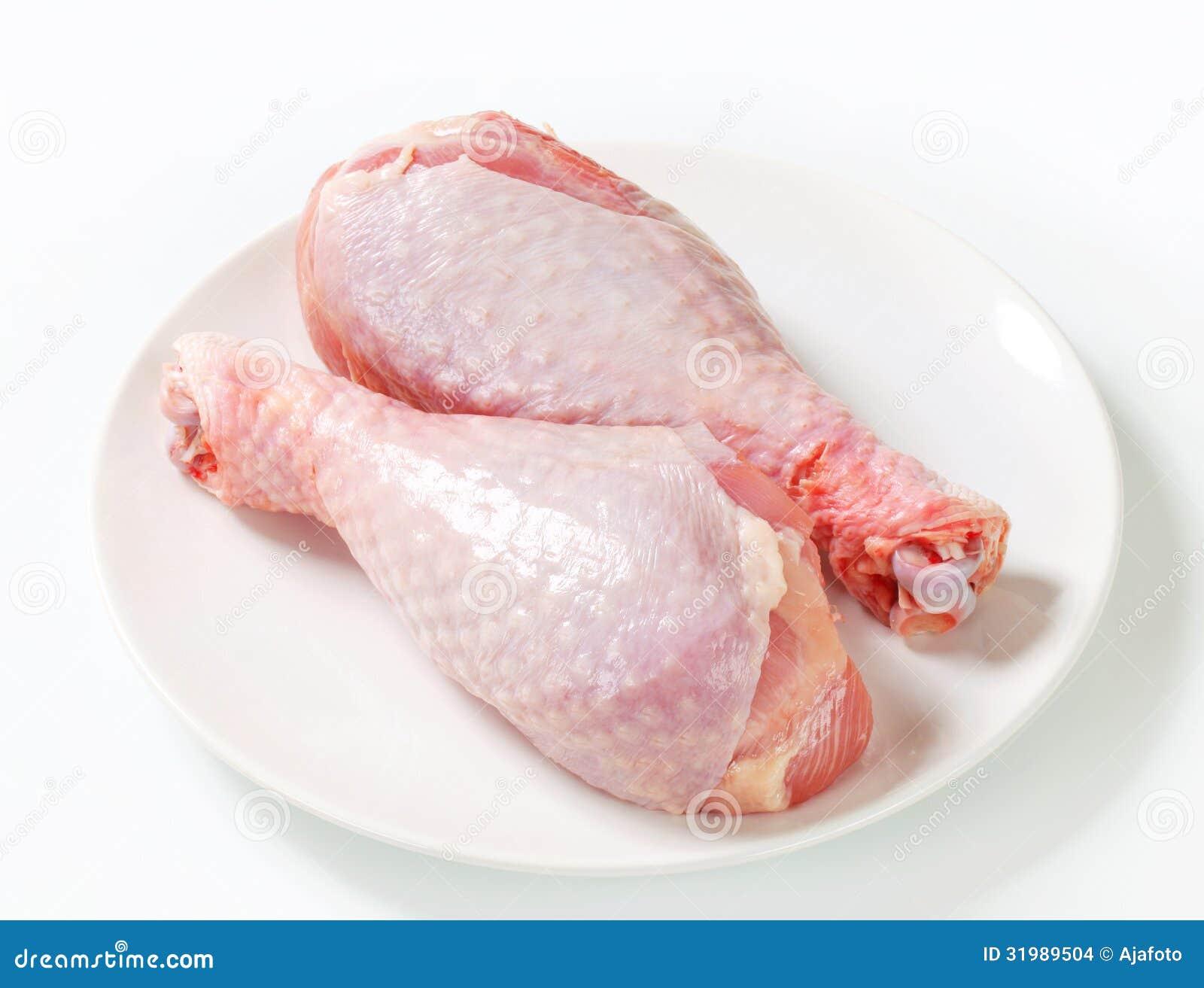 Raw Turkey Legs Stock ...