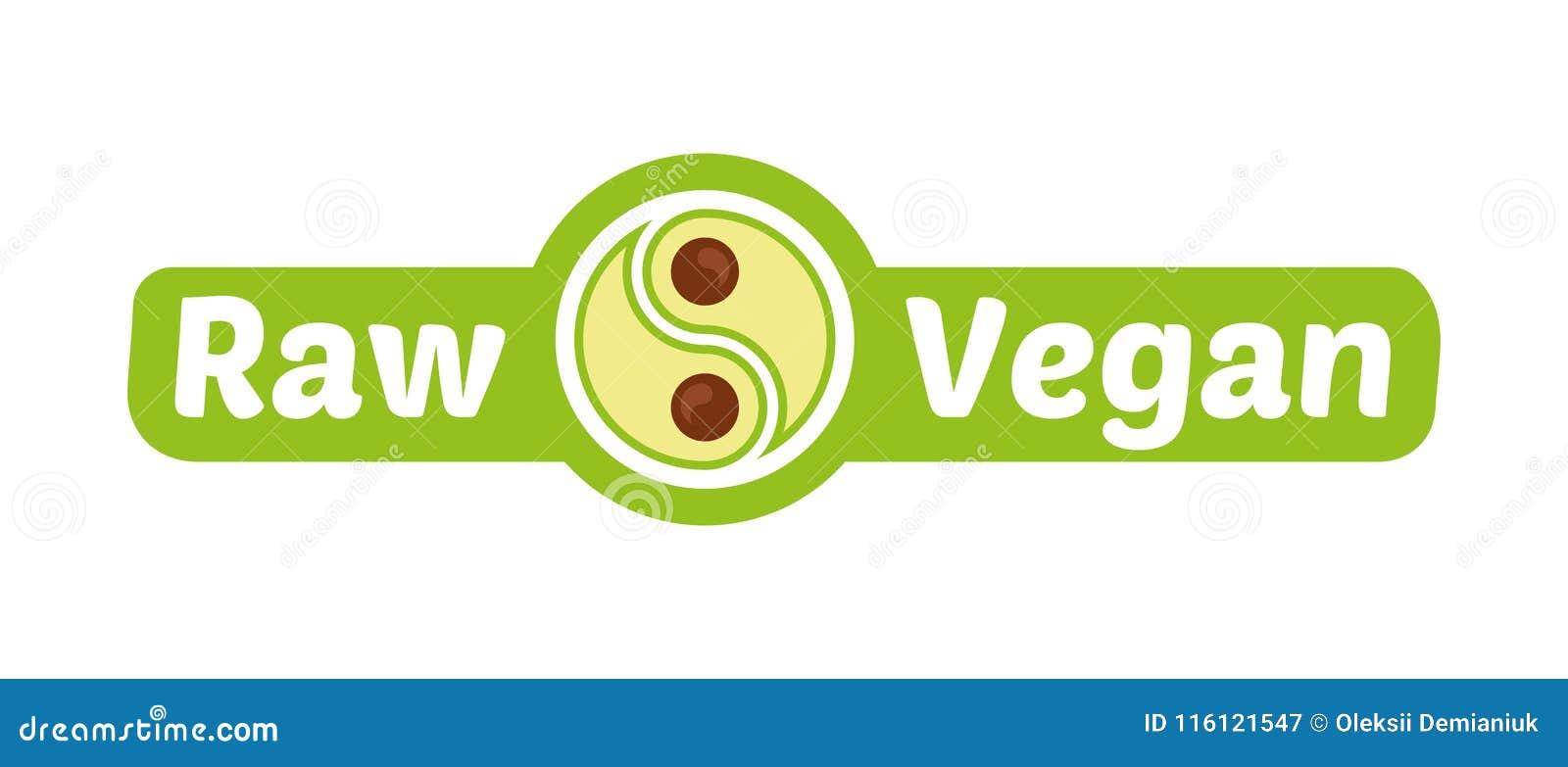 Raw vegan logo stock vector. Illustration of restaurant ...