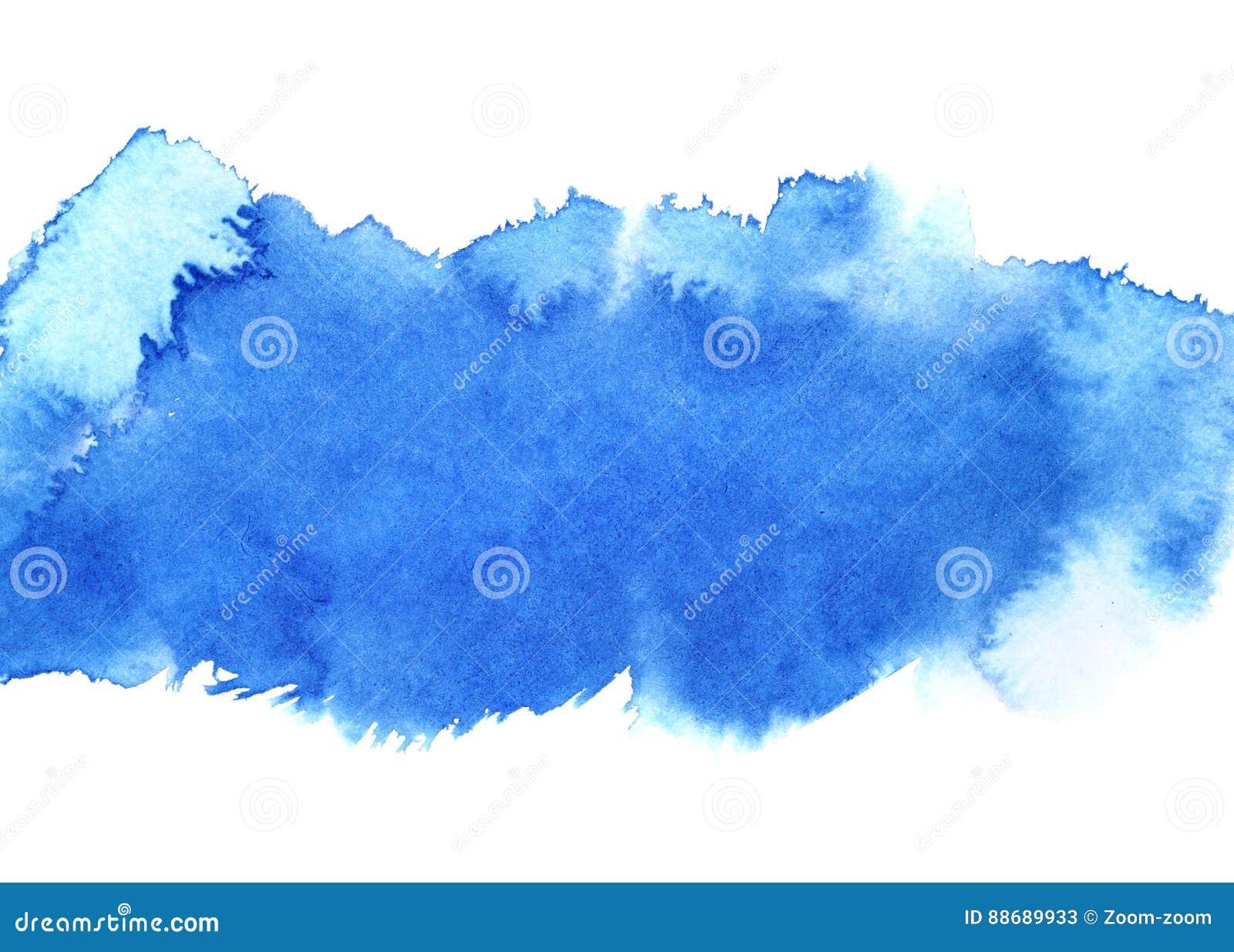 Raya azul del watercolour