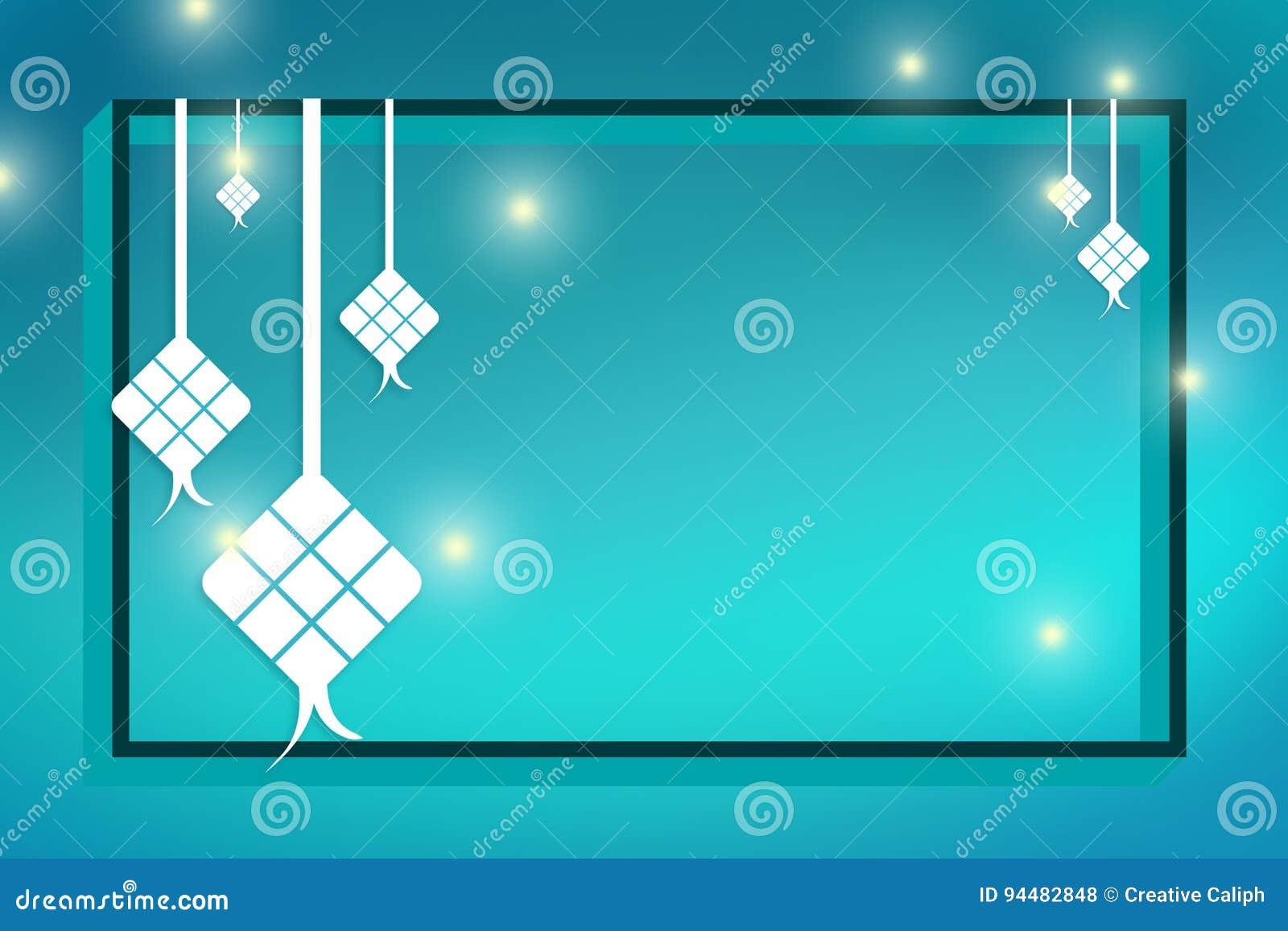 Raya Eid Greeting Card Stock Illustration Illustration Of Ramadhan