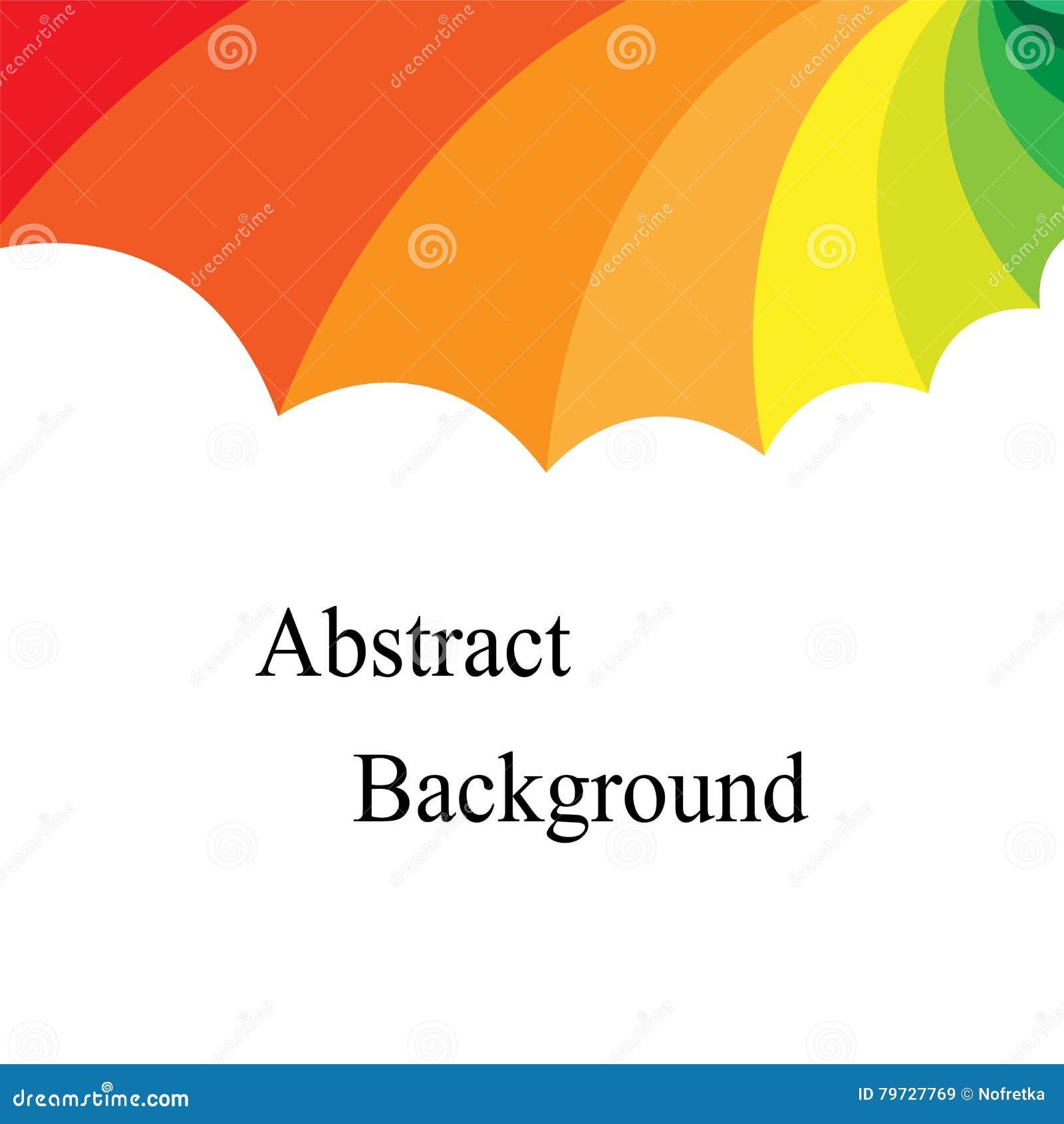 Rayas disminuidas cóncavas coloreadas arco iris Plantilla para las etiquetas, aviadores, banderas, insignias, carteles, etiquetas