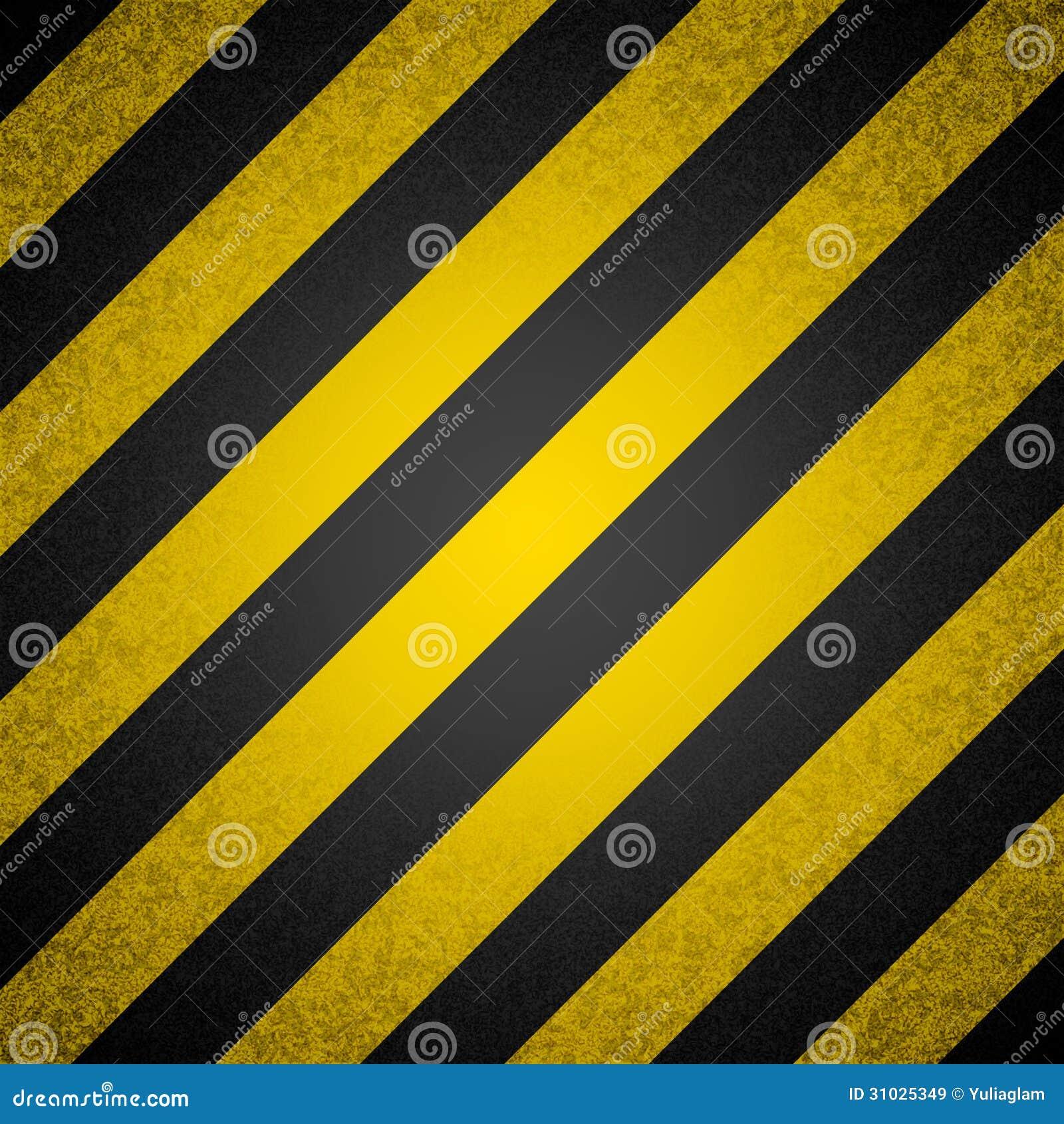 Rayas negras y amarillas del peligro ilustraci n del - Papel de pared de rayas ...