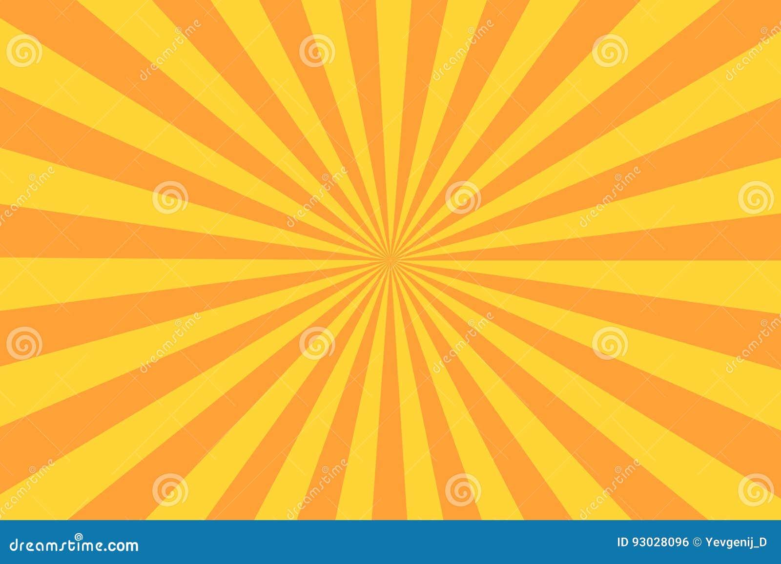 Rayo retro del resplandor solar en estilo del vintage Fondo abstracto del cómic