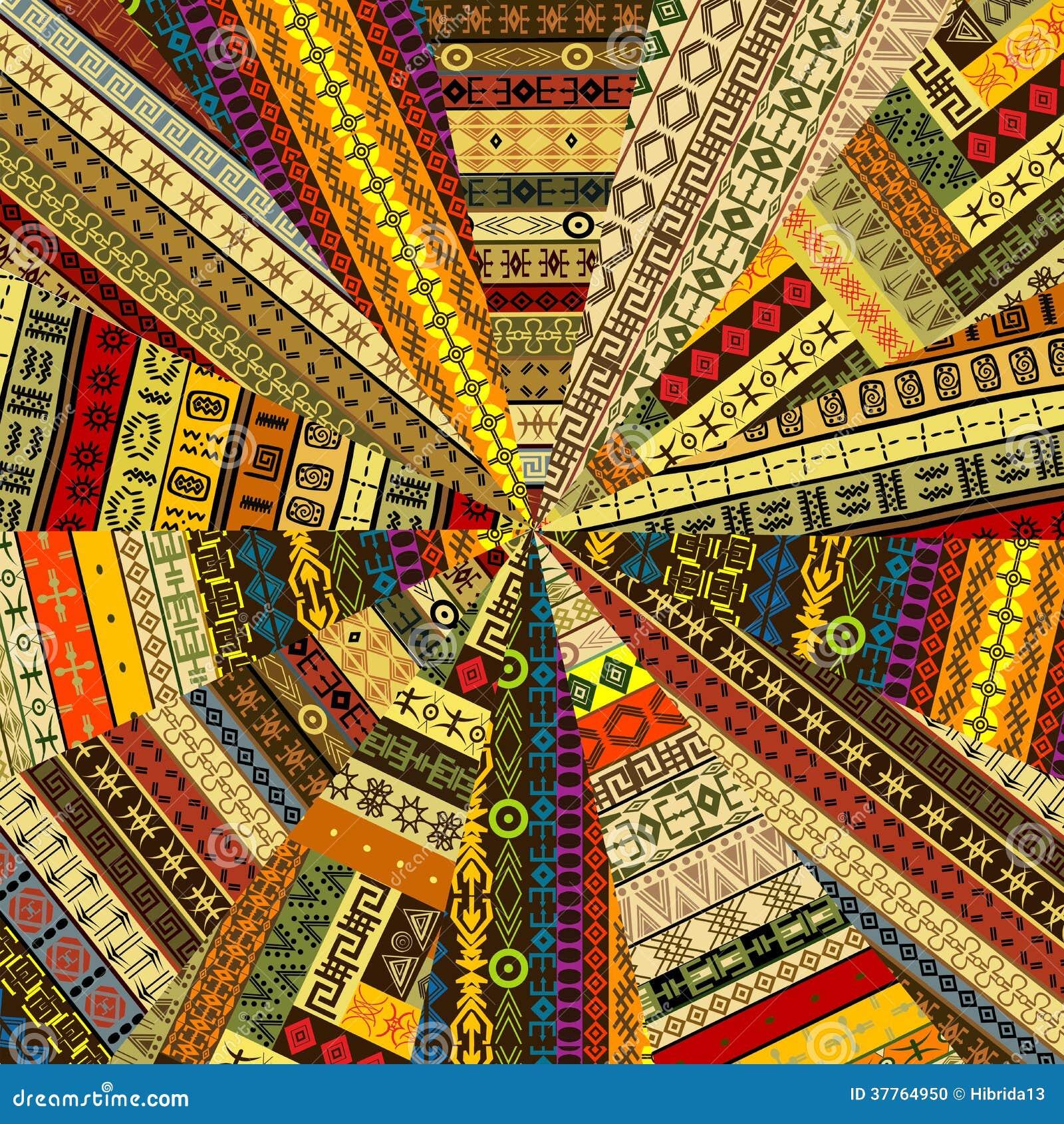 rayon de soleil fait en tissu de patchwork avec des motifs ethniques illustration stock image. Black Bedroom Furniture Sets. Home Design Ideas