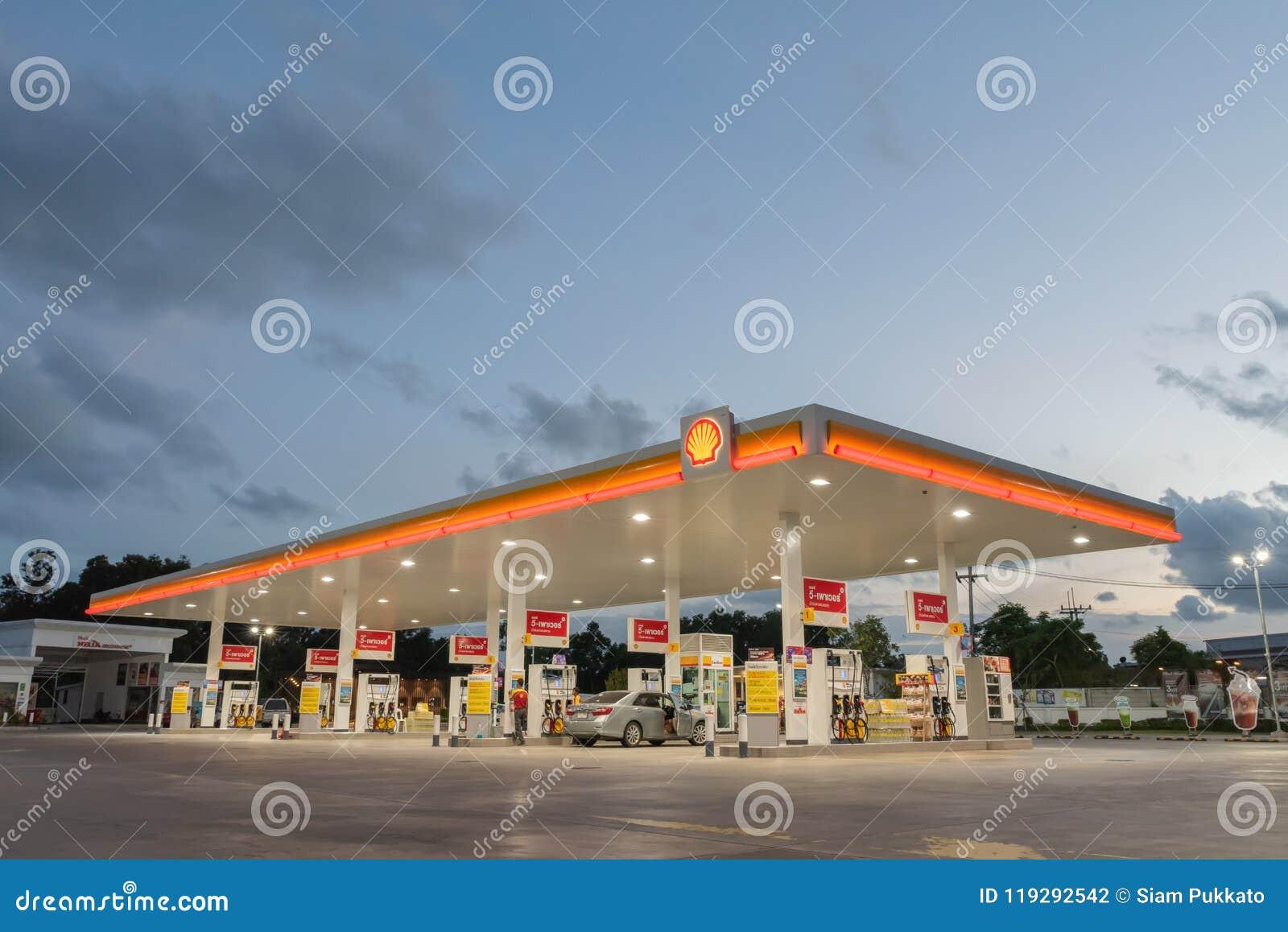 Rayong, Rayong /Thailand - June 17, 2018: Shell gas station