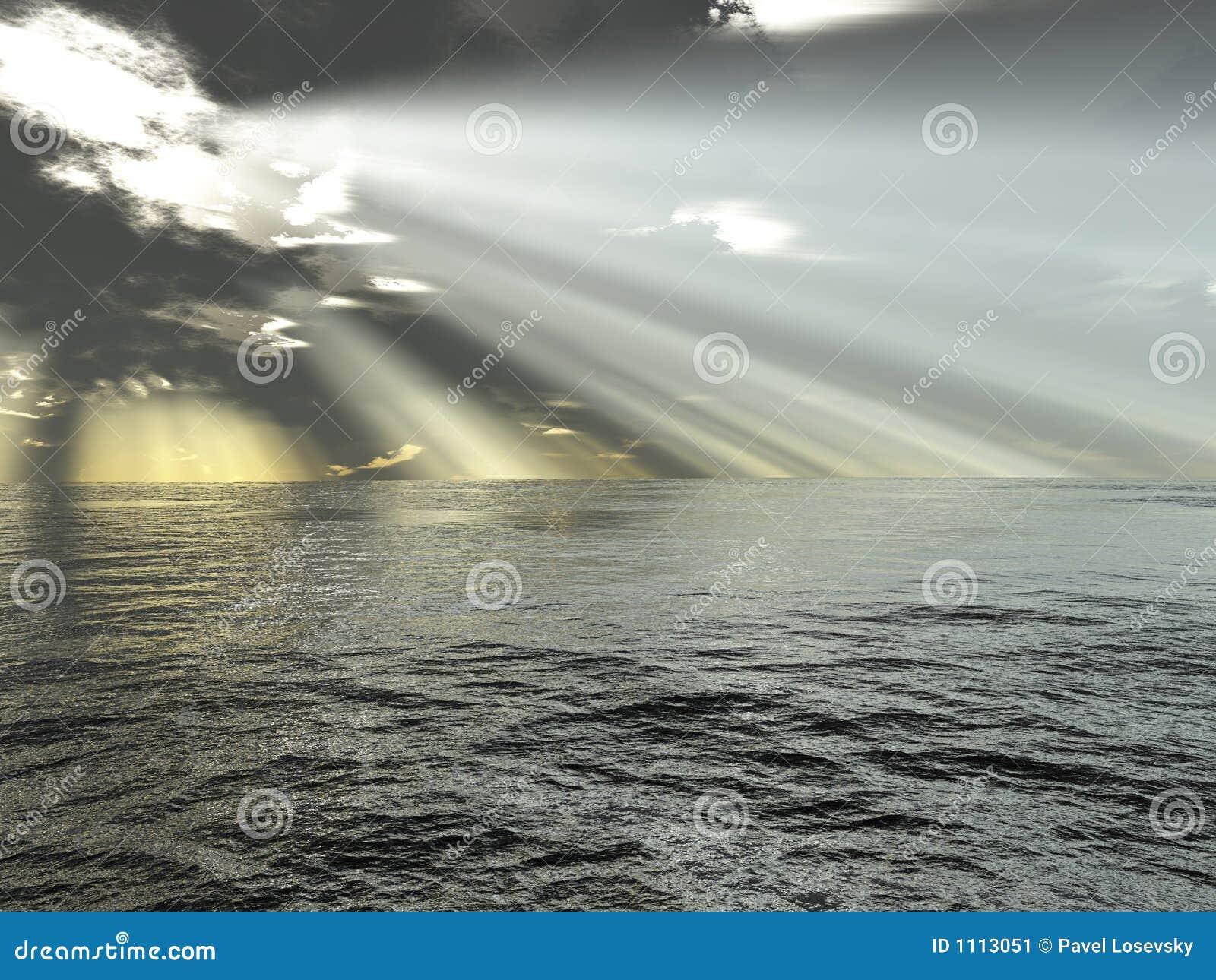 Rayons de lumière et d océan