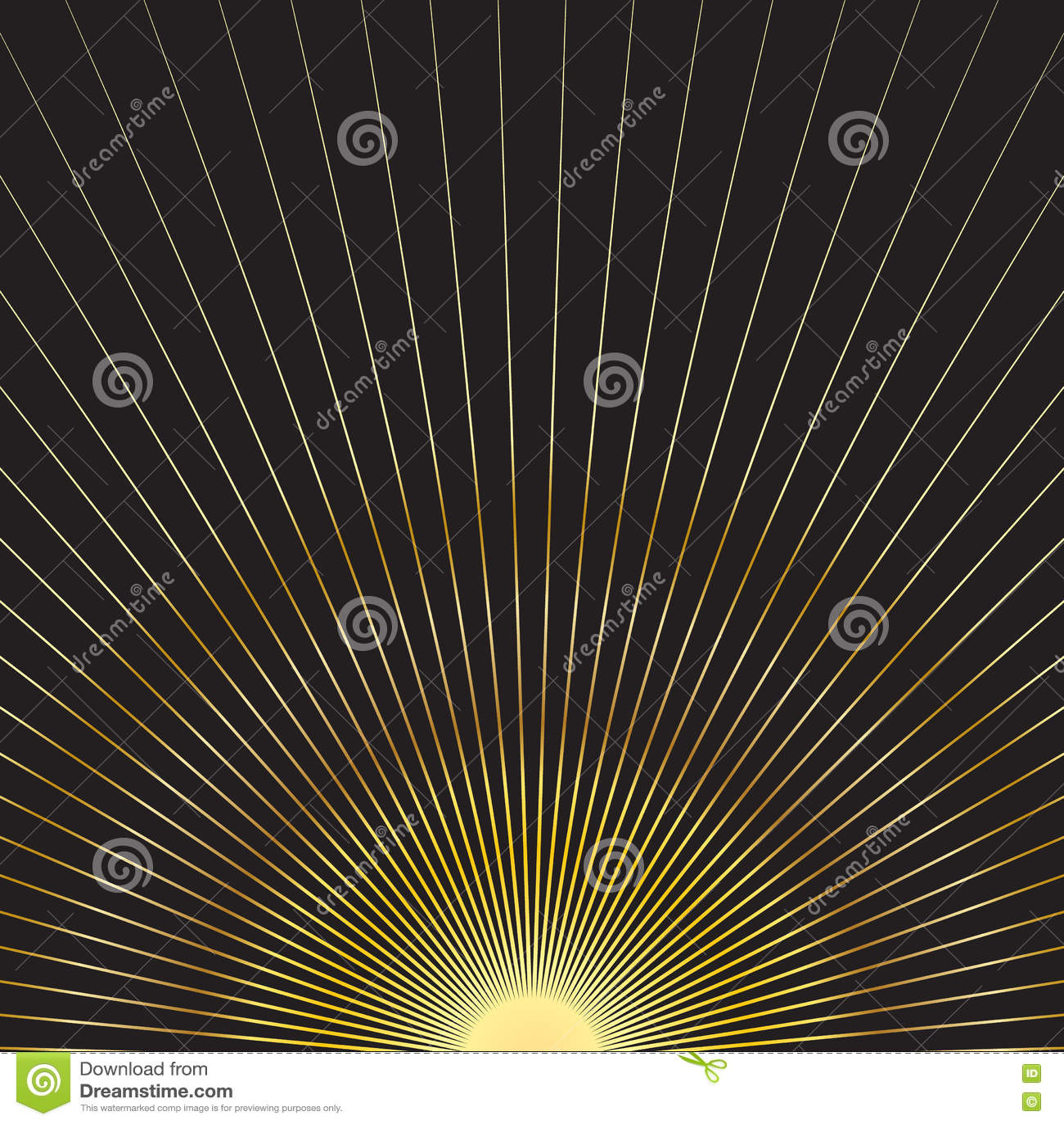 Rayons du soleil d or
