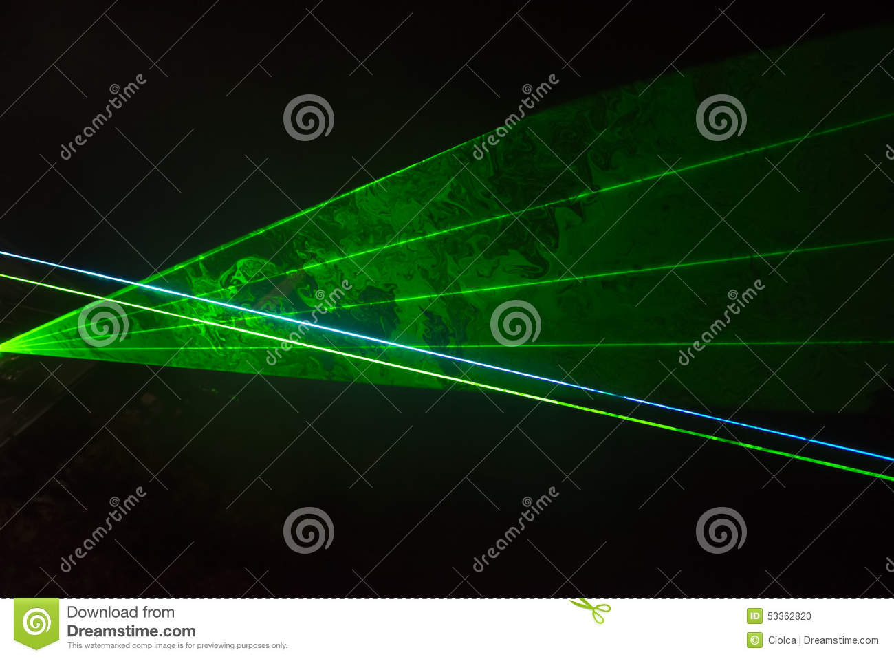 Rayons laser verts