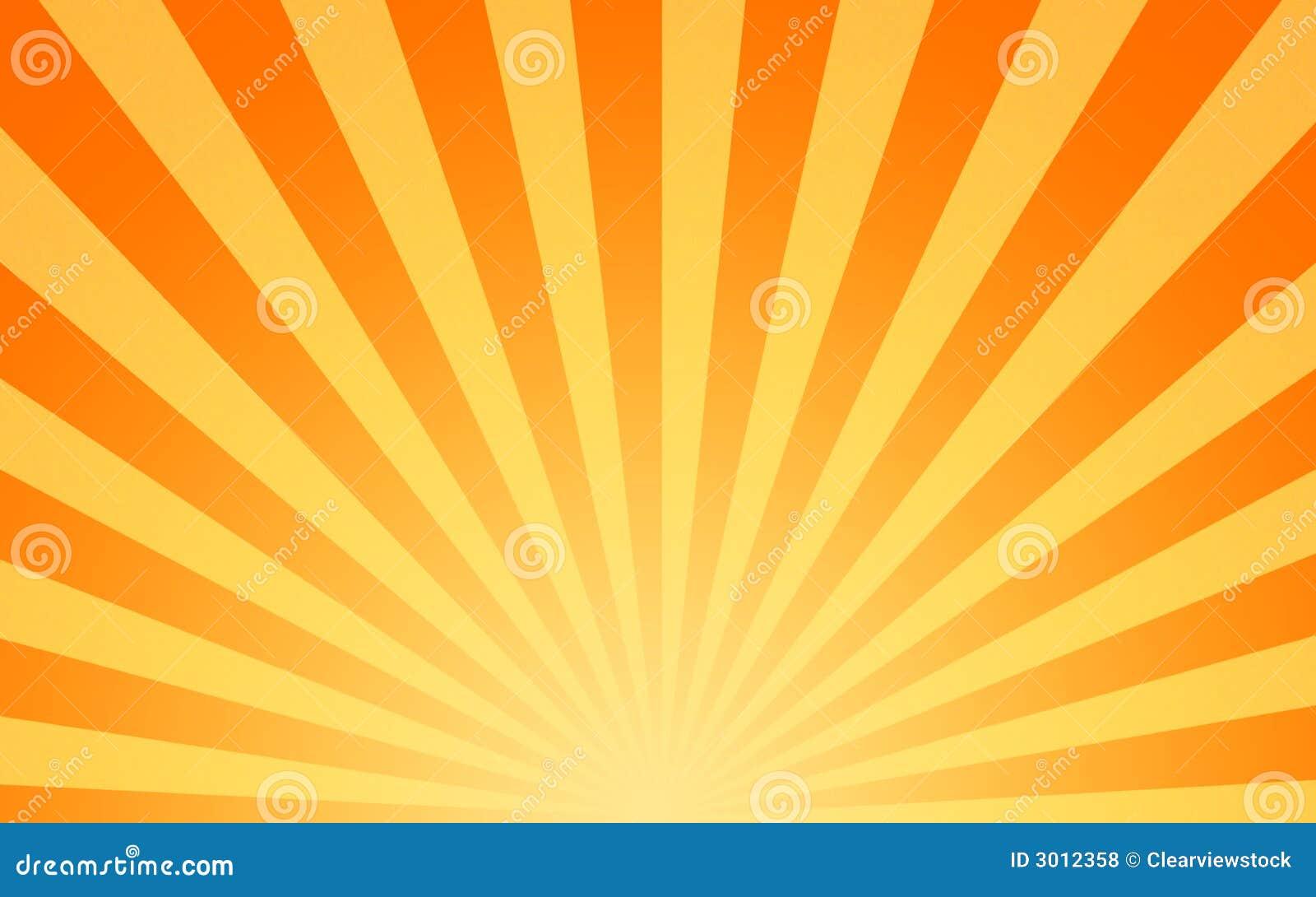 Rayos de sol calientes del sol que brillan