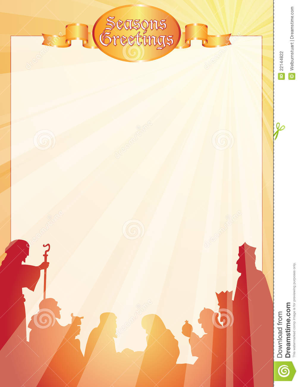 Rays Belen Greetings Letter Stock Photography Image