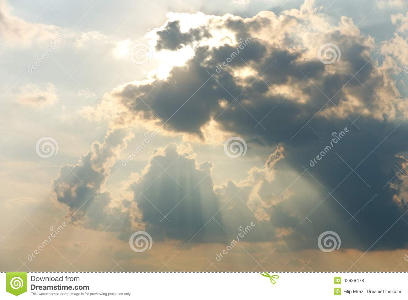 Rays in the clouds