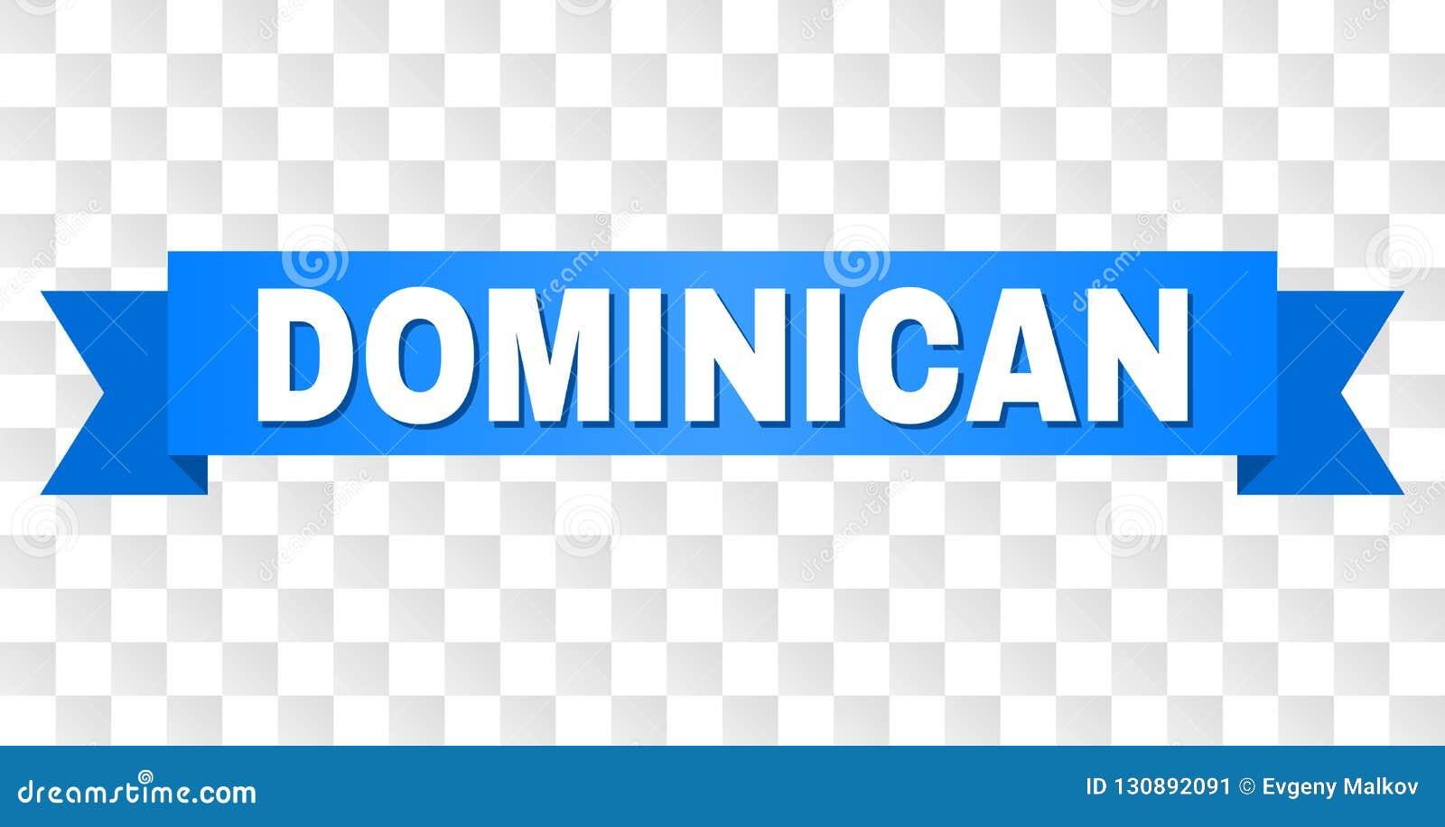 Rayure bleue avec le texte DOMINICAIN