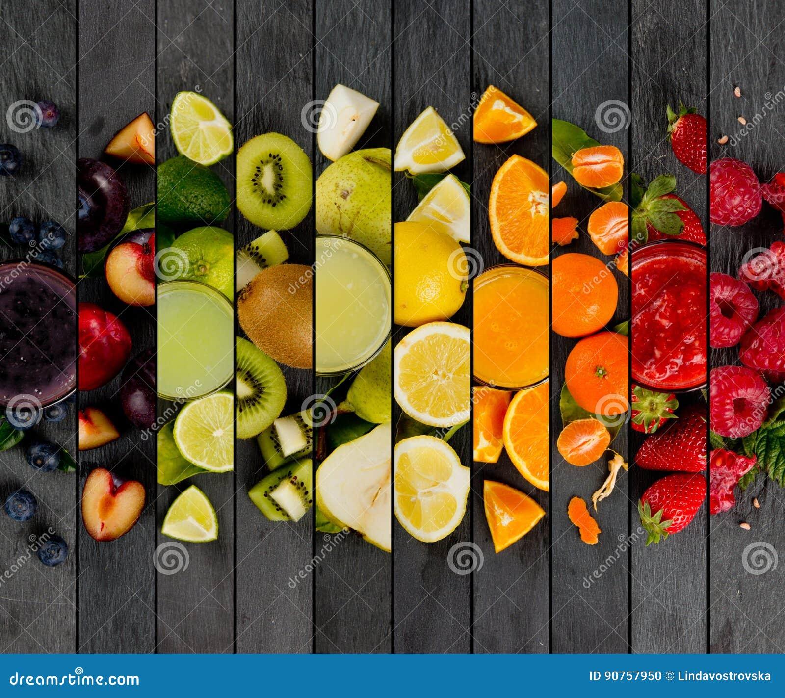 Rayures de préparation de fruit