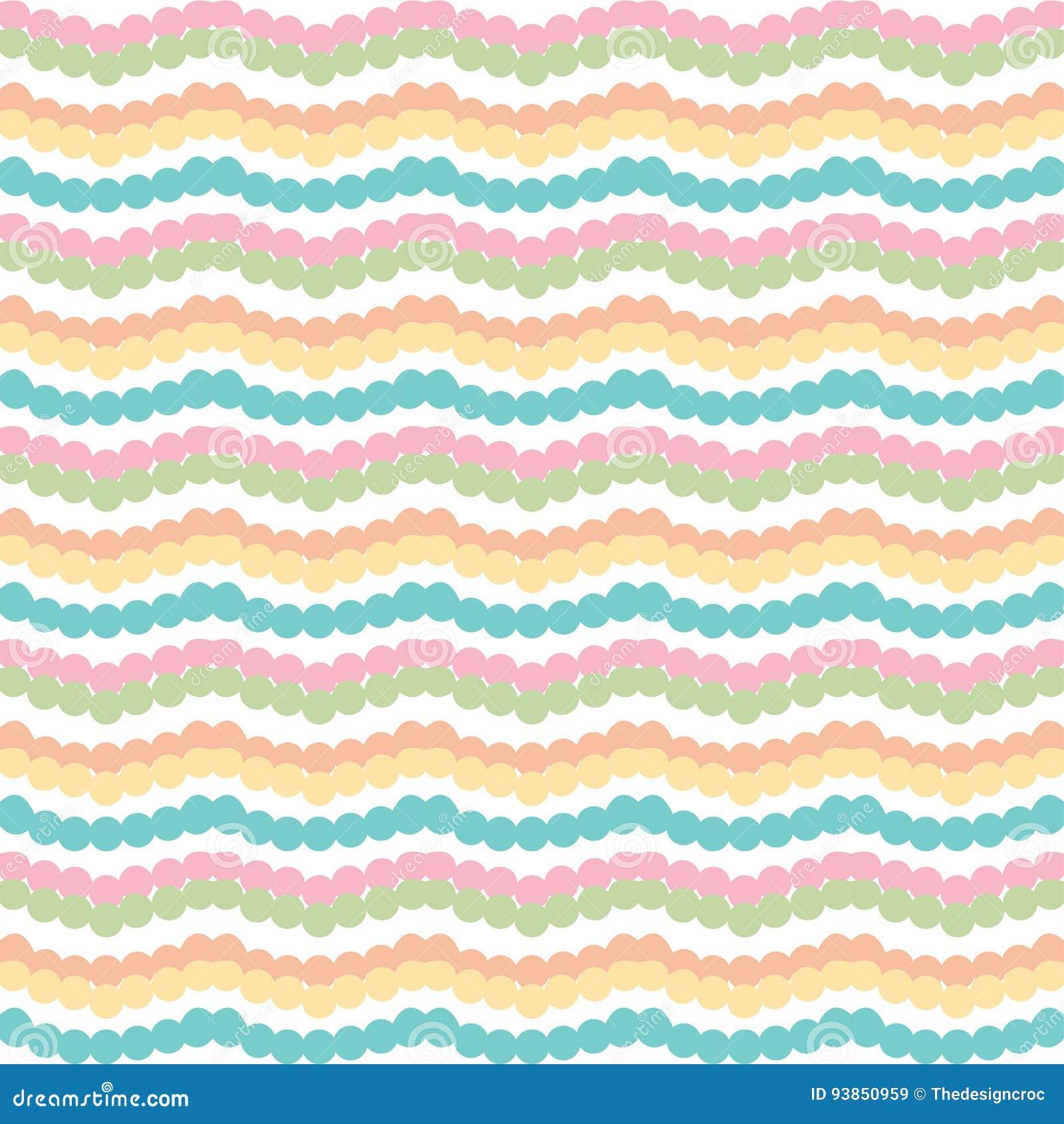 Rayures horizontales colorées de zigzag de Chevron sur le fond blanc