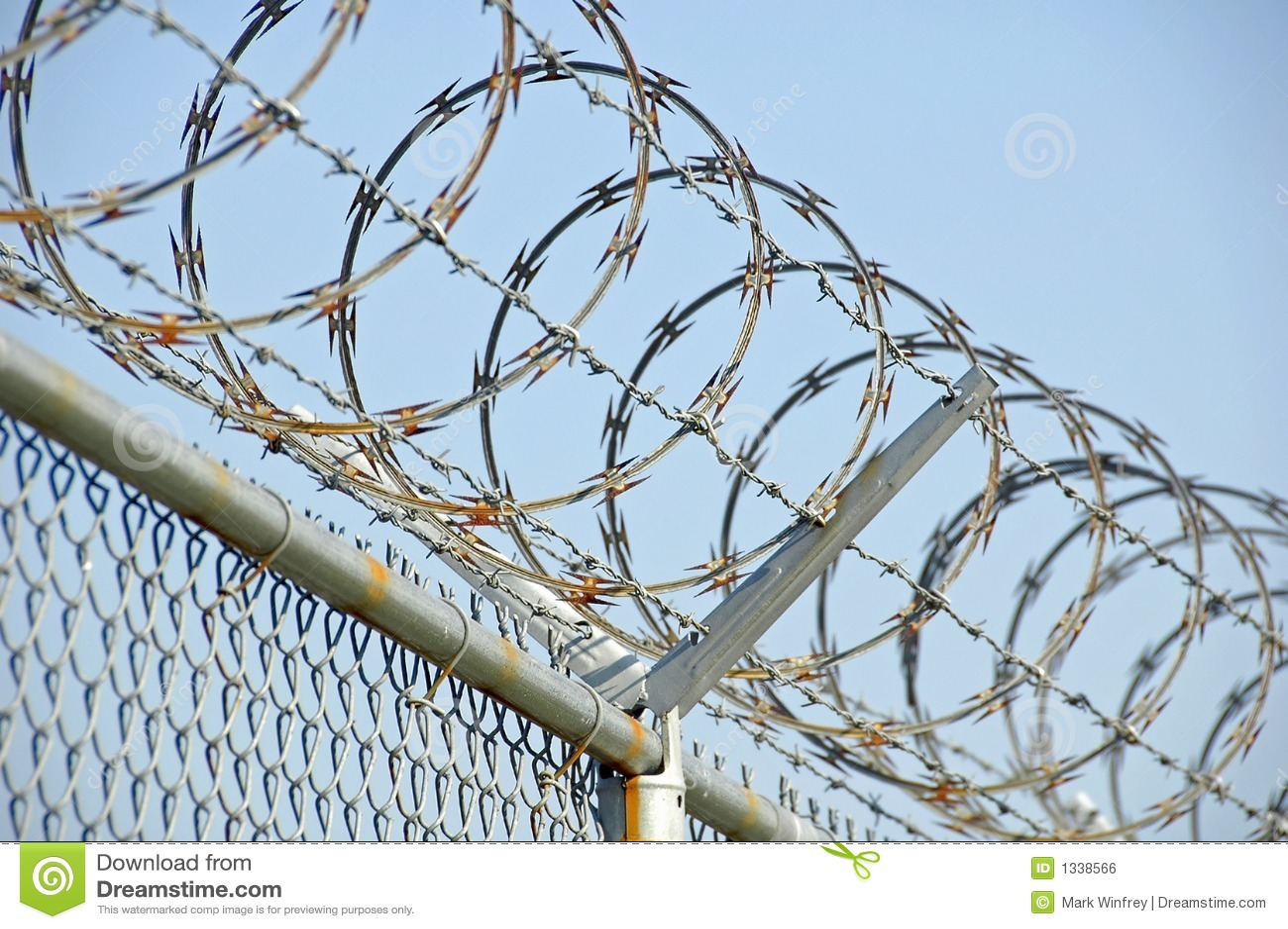 Razor Wire 2 stock photo. Image of boundary, cross, field - 1338566