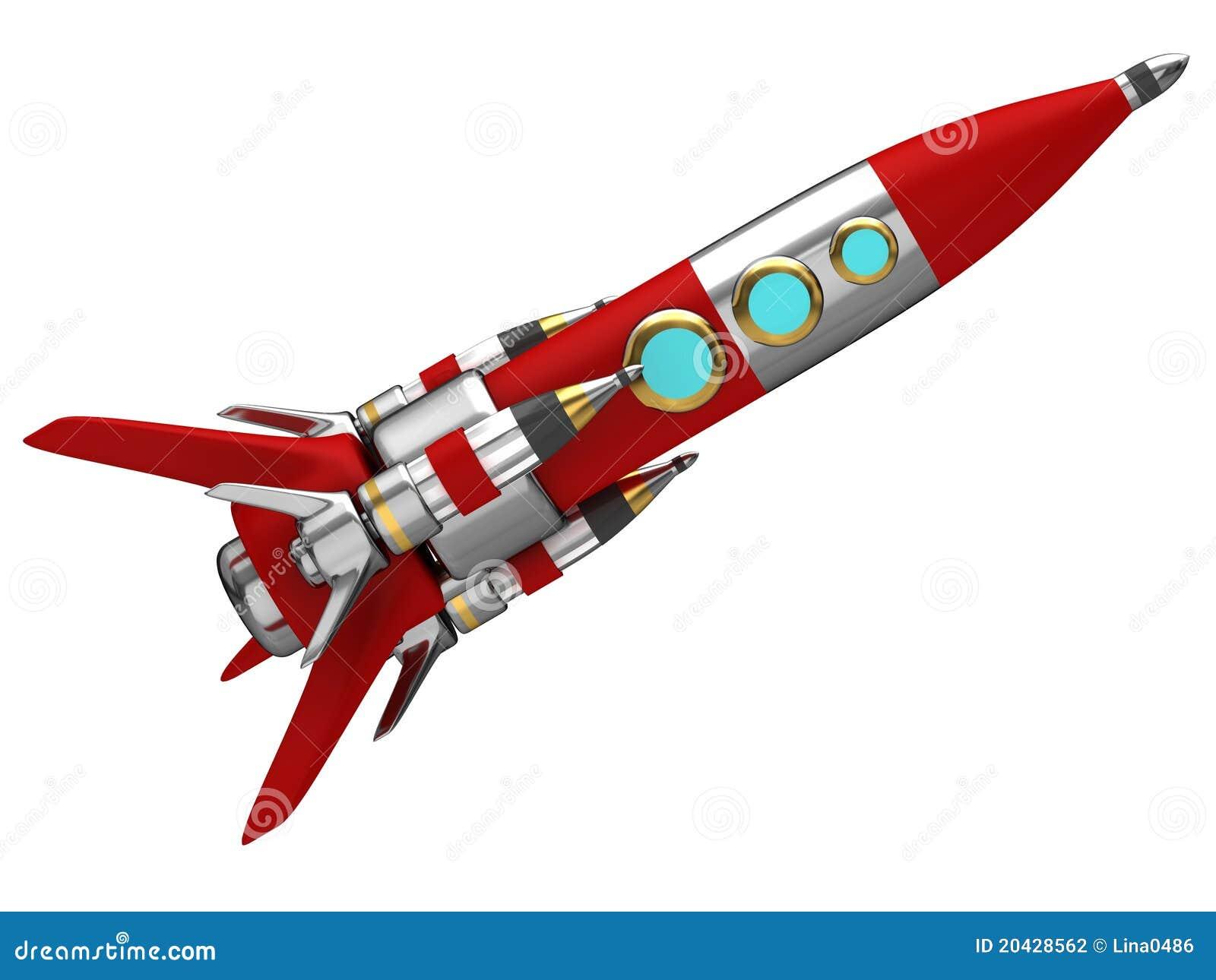 Razzo di spazio stilizzato d 39 acciaio illustrazione di - Immagini stampabili a razzo ...