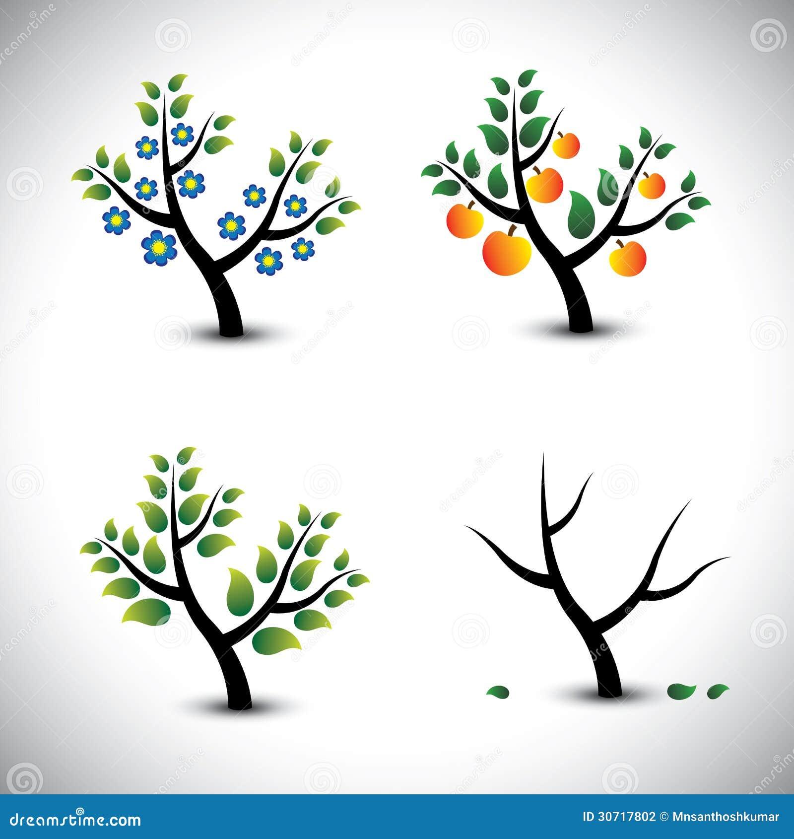 Rbol abstracto en primavera verano oto o y invierno for Arboles en invierno