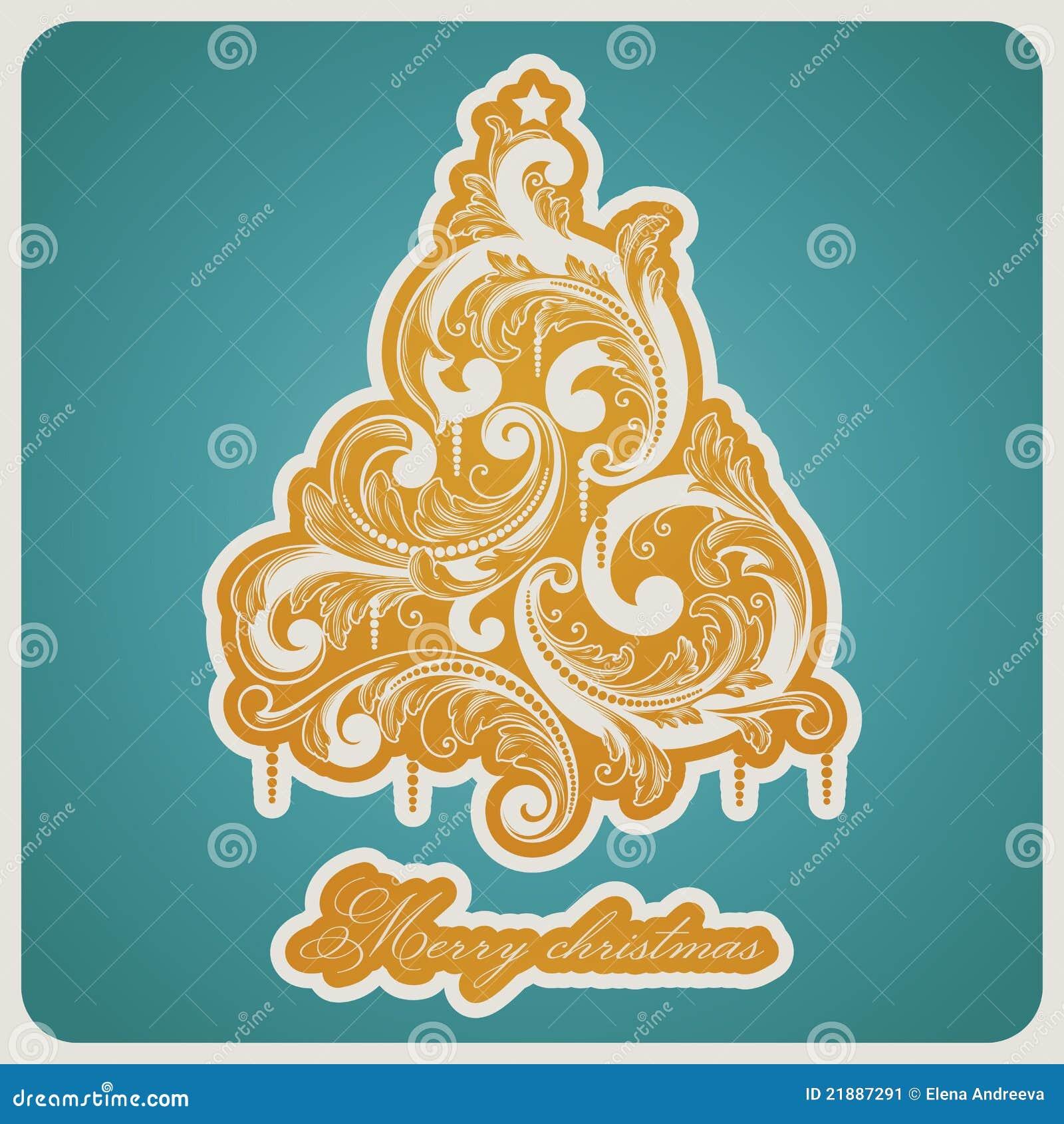 Rbol de navidad barroco elegante del estilo imagen de - Arbol navidad elegante ...