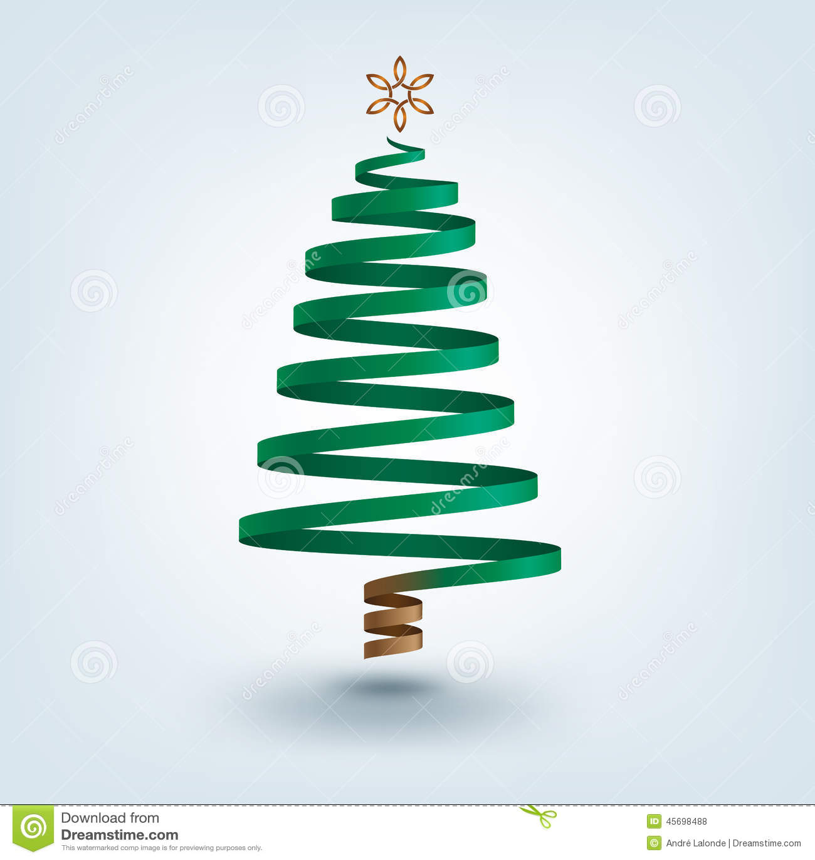 Rbol de navidad de la cinta ilustraci n del vector - Cinta arbol navidad ...
