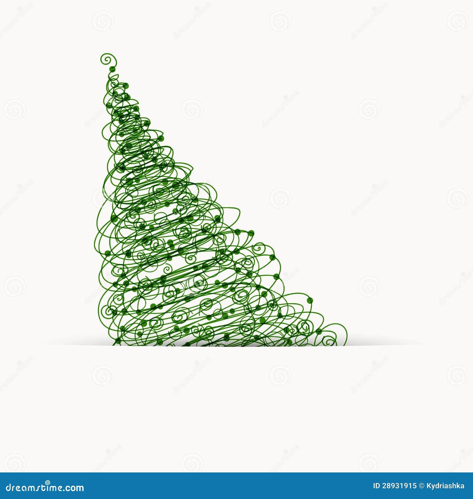 Rbol de navidad dise o de la postal con el lugar para - Arbol de navidad diseno ...
