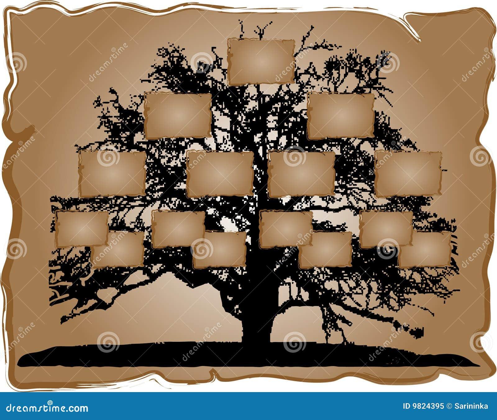 Rbol geneal gico foto de archivo libre de regal as - Diseno arbol genealogico ...