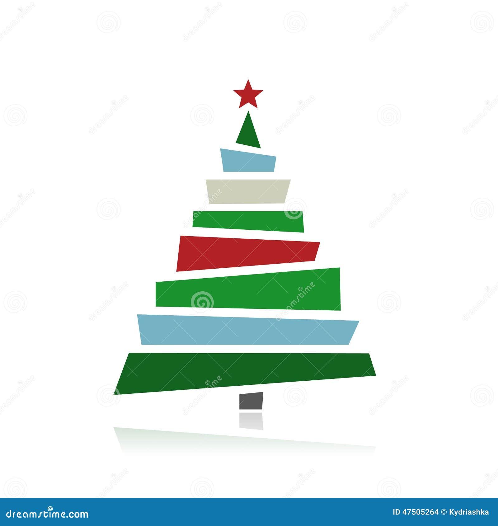 Rboles de navidad abstractos para su dise o ilustraci n - Cintas navidad para arbol ...