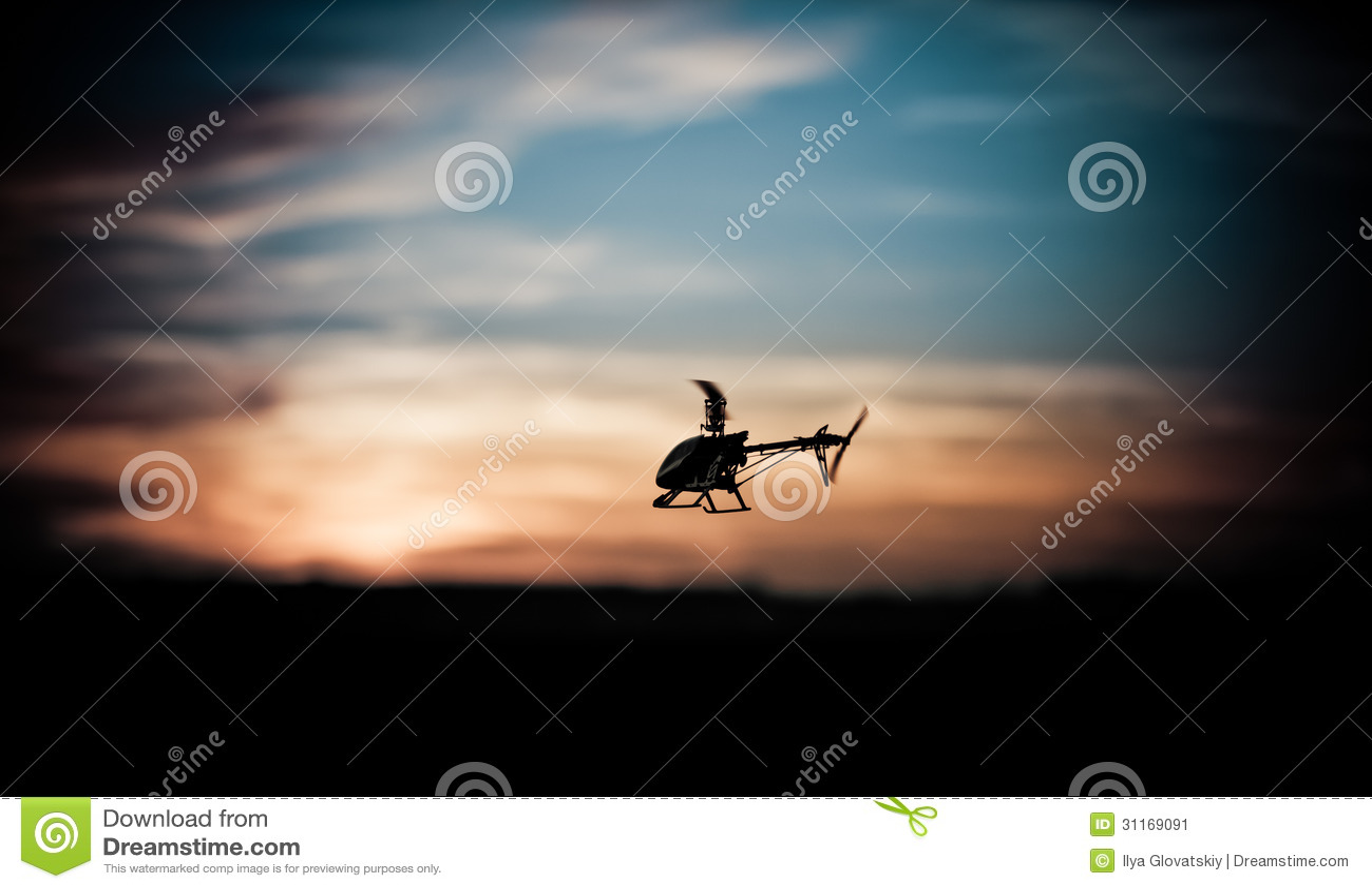 RC直升机的照片