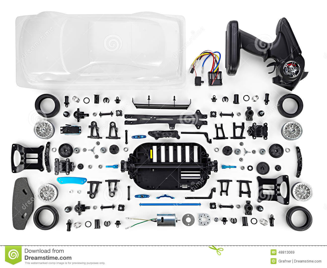 Rc Car Assembly Kit Stock Image Image Of Play Action 48813069
