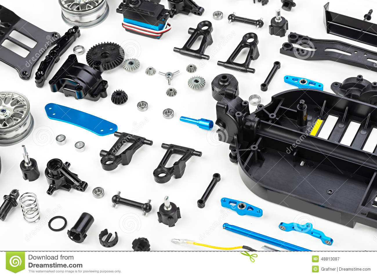 Rc Car Assembly Kit Stock Image Image Of Chassis Sport 48813087