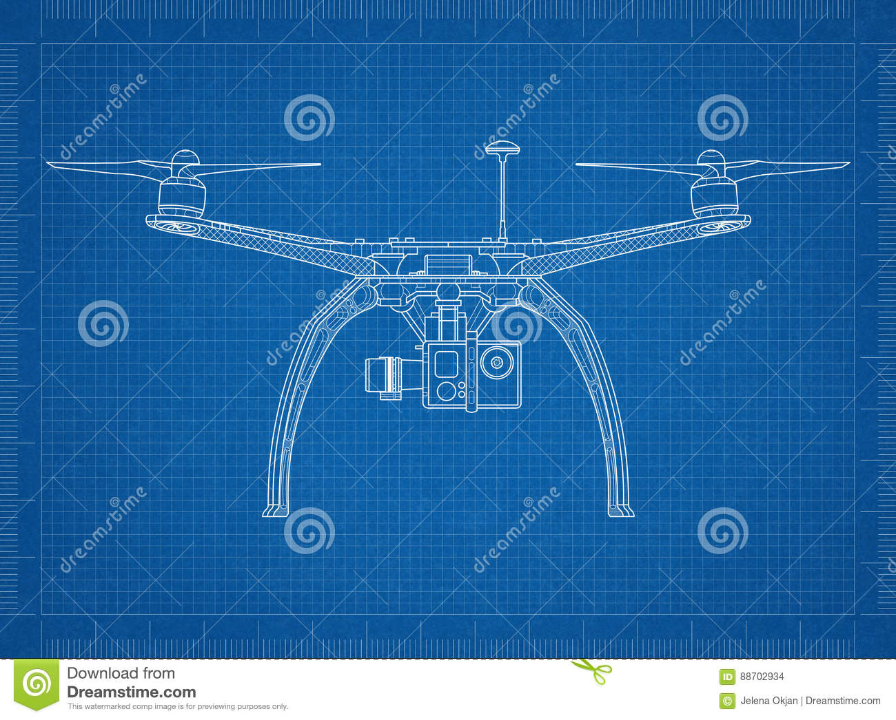 RC Quadcopter Drone Blueprint