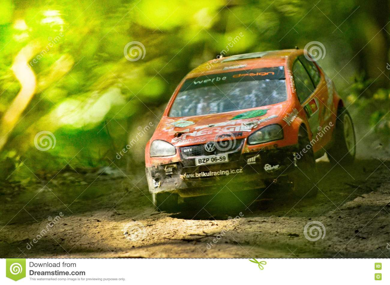 Rc Rally Car Vw Volkswagen Golt Gti Editorial Image Image Of Dust