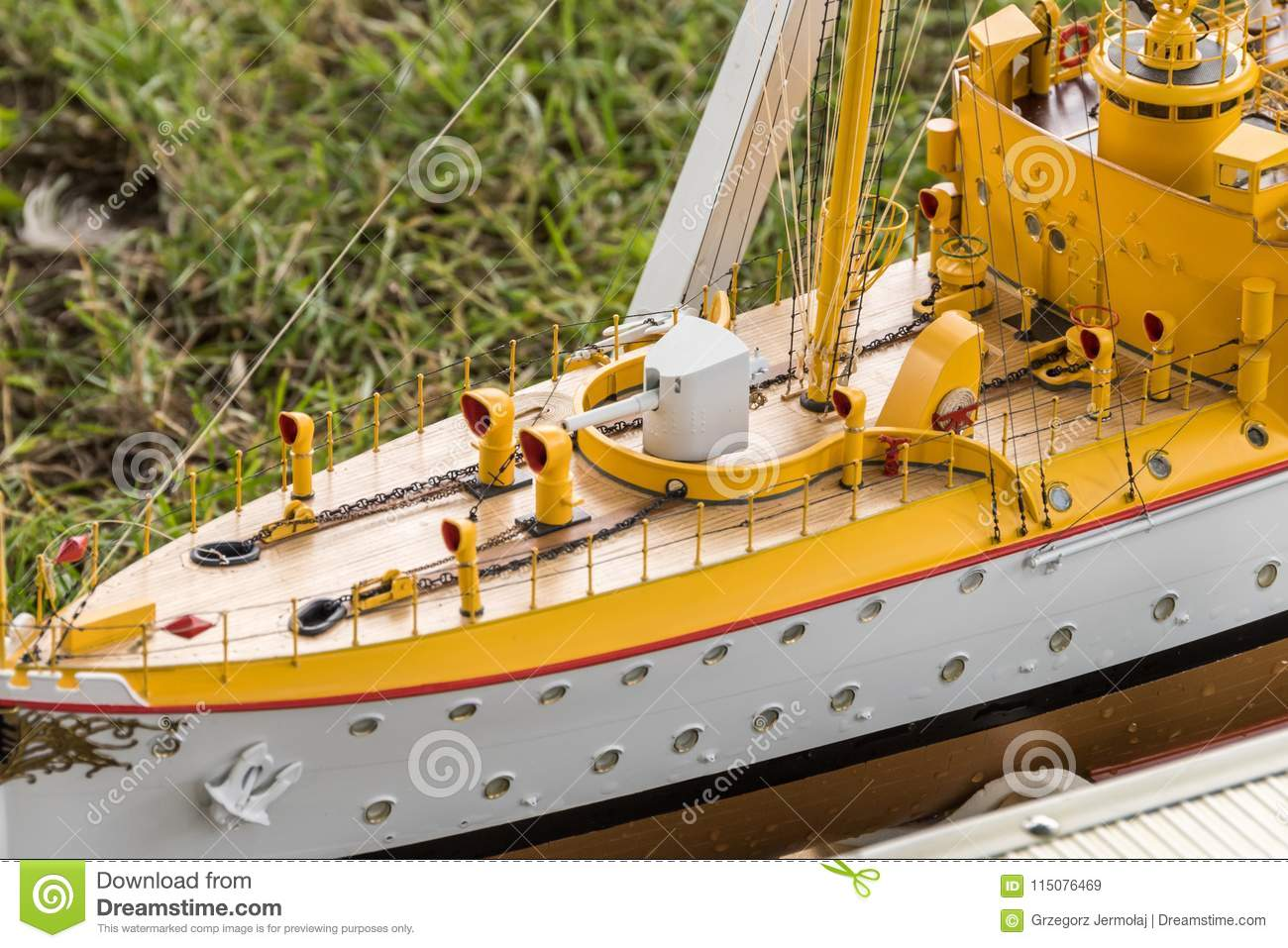 Remote-control Scale Warship At Competitions  Editorial Stock Image