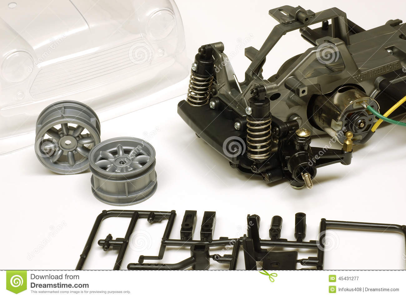 Rc Toy Car Parts Assembly Stock Image Image Of Remote 45431277