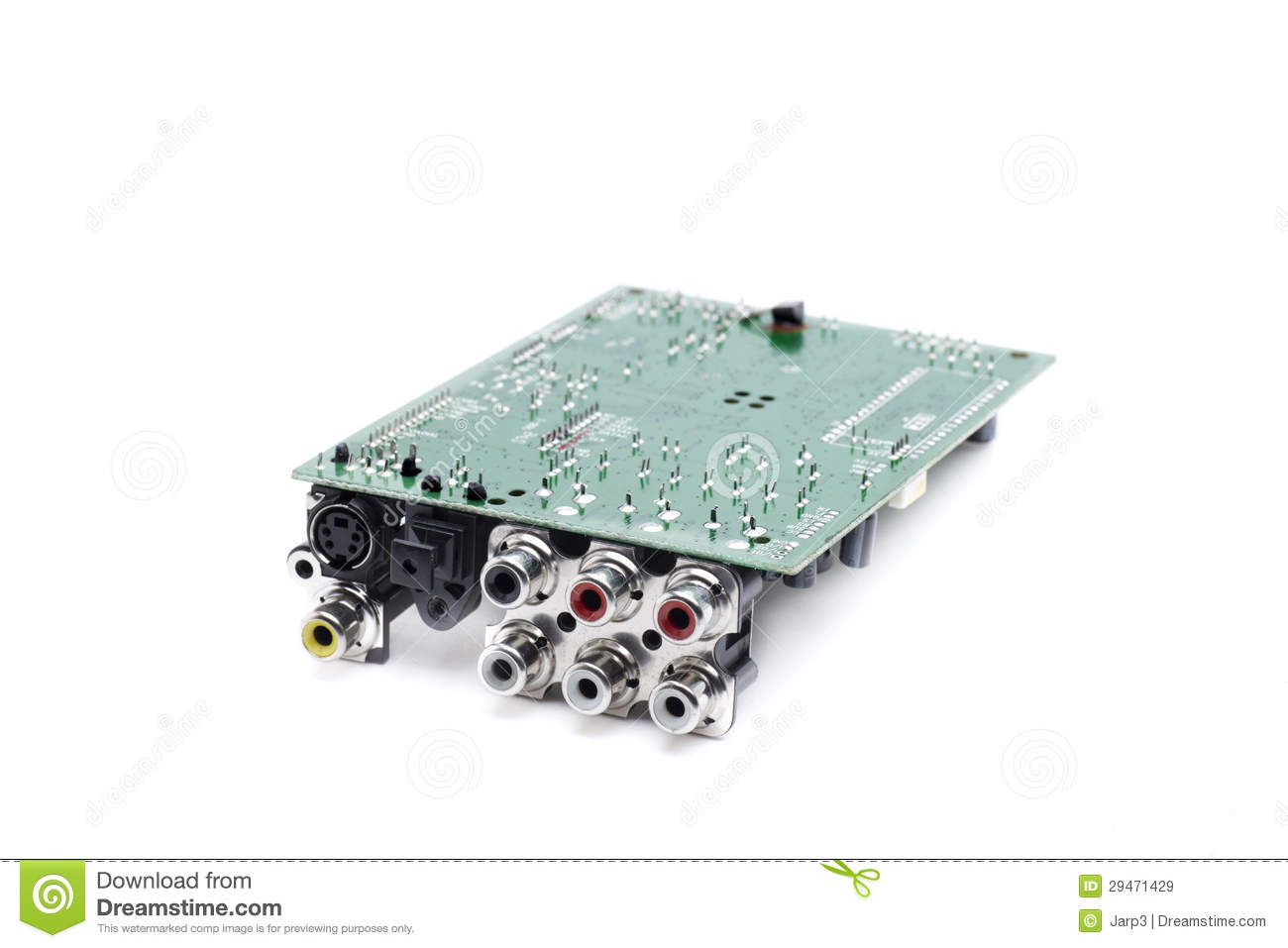 Rca motherboard stock image. Image of jacks, cables, interconnect ...