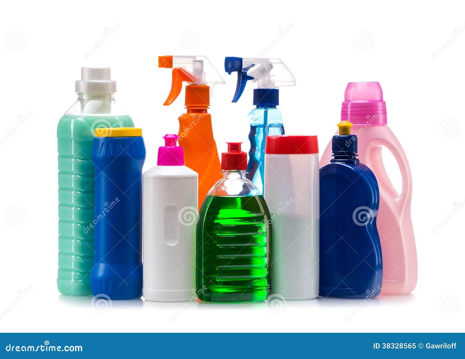 R cipient en plastique de produit d 39 entretien pour la - Maison verte produits d entretien ...